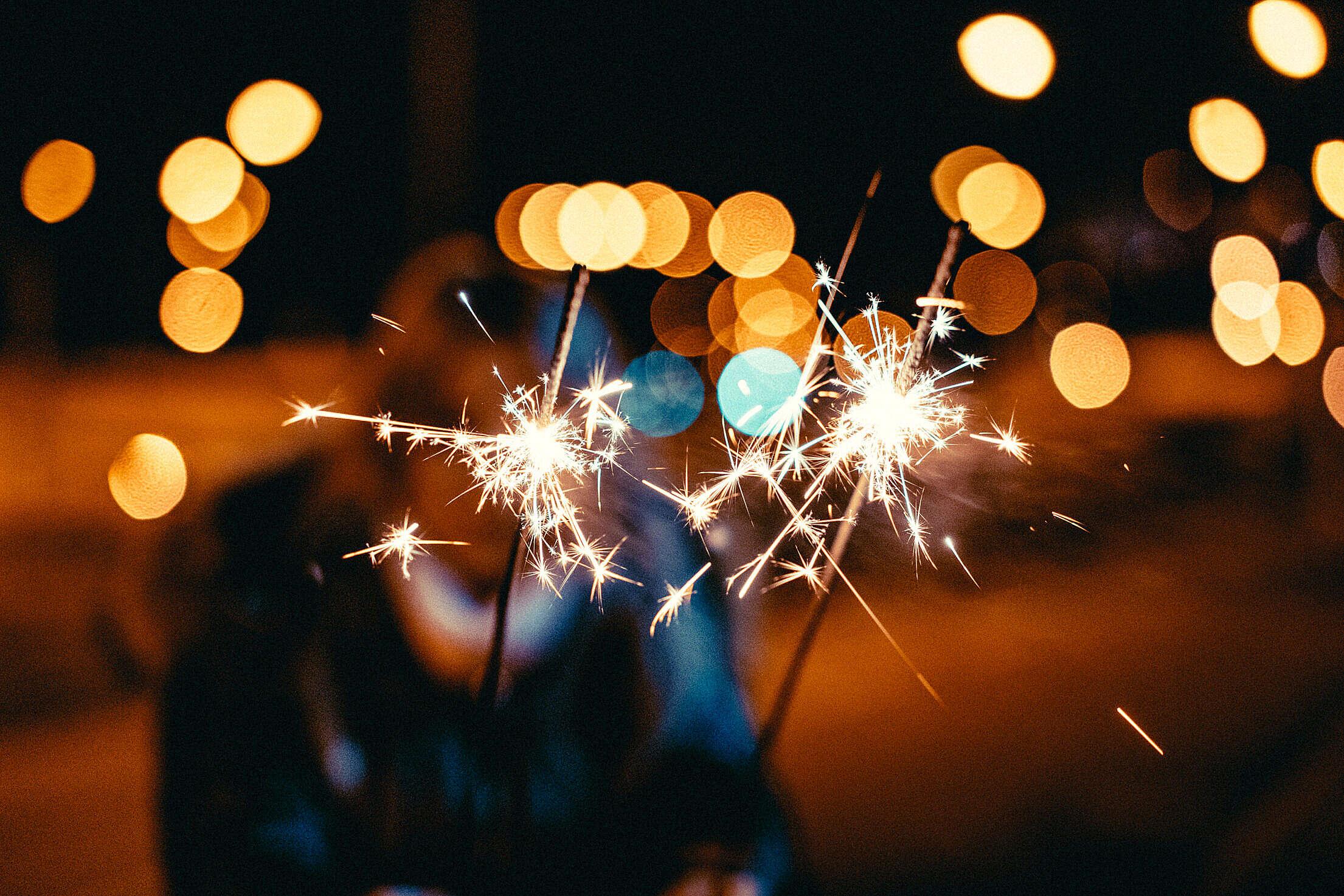 Sparklers Free Stock Photo