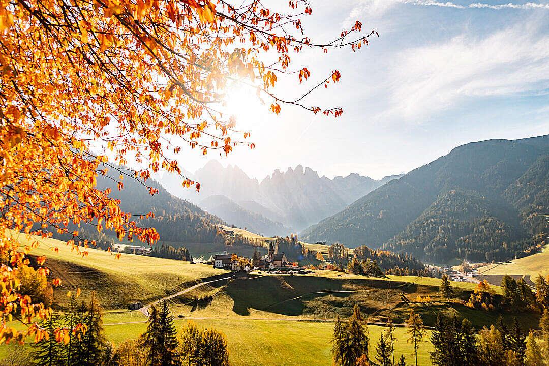 Download Spectacular Autumn Mountain View, Dolomites Italy FREE Stock Photo
