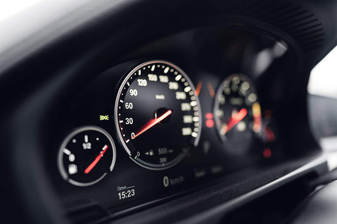 Download Speedometer in a Sports Car FREE Stock Photo