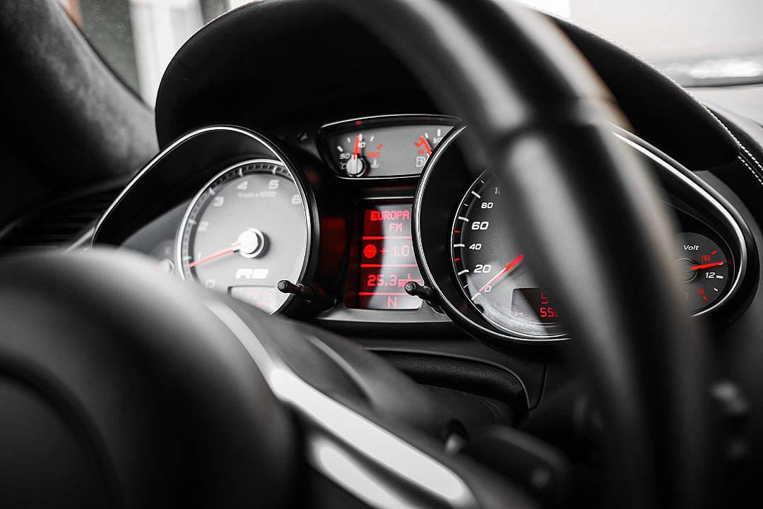 Download Sport Car Black Dashboard FREE Stock Photo
