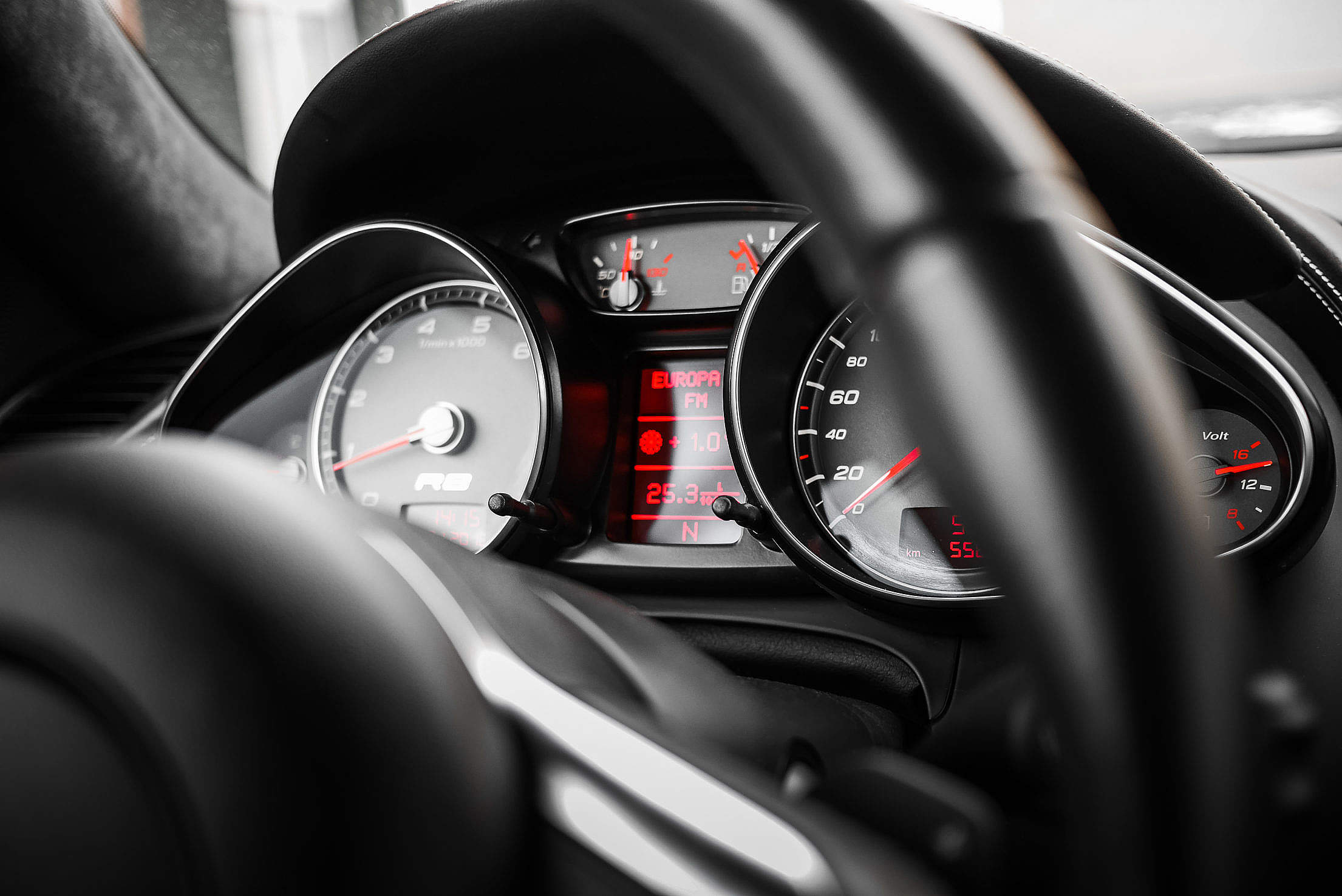 Sport Car Black Dashboard Free Stock Photo