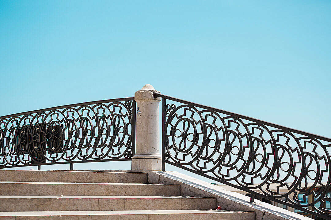 Download Stairs and Old Vintage Handrails in Venice, Italy FREE Stock Photo