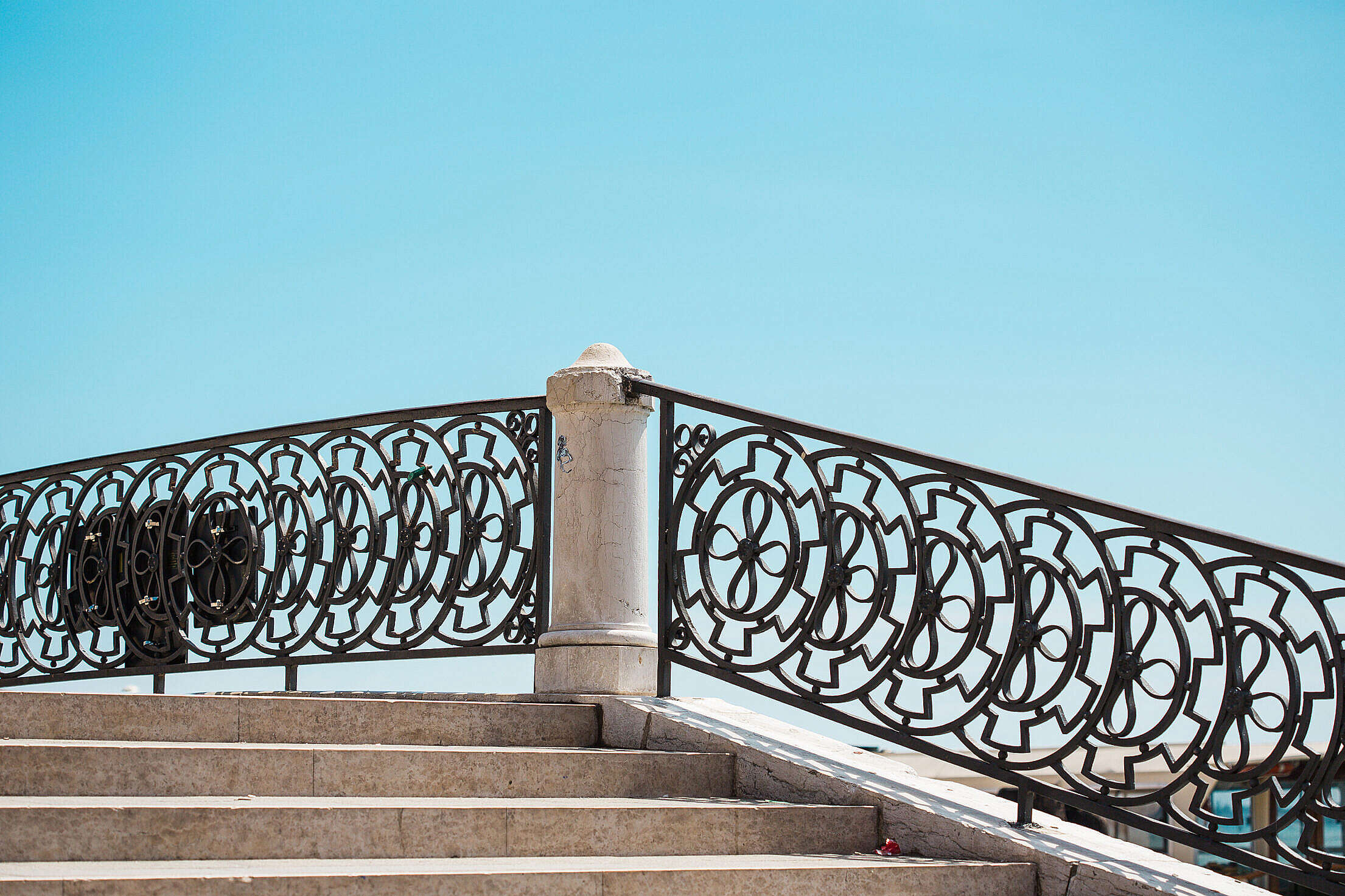 Stairs and Old Vintage Handrails in Venice, Italy Free Stock Photo