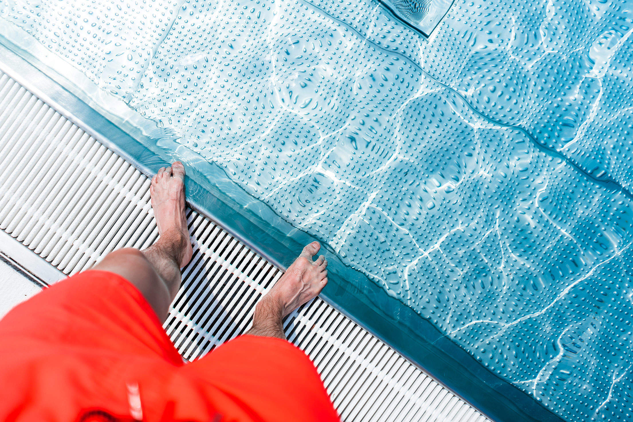 Standing at The Edge of Swimming Pool Free Stock Photo