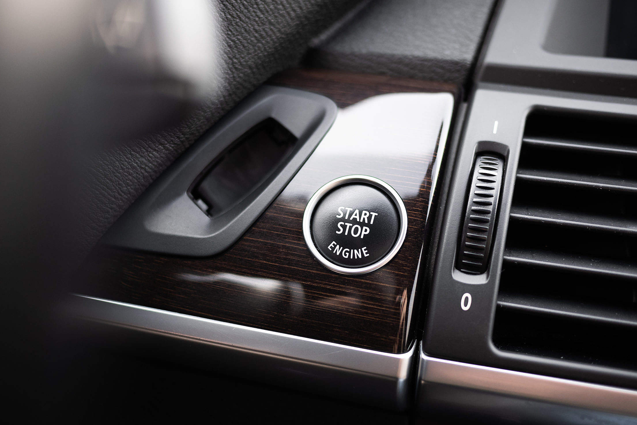 Start Stop Engine Button in The Car Free Stock Photo