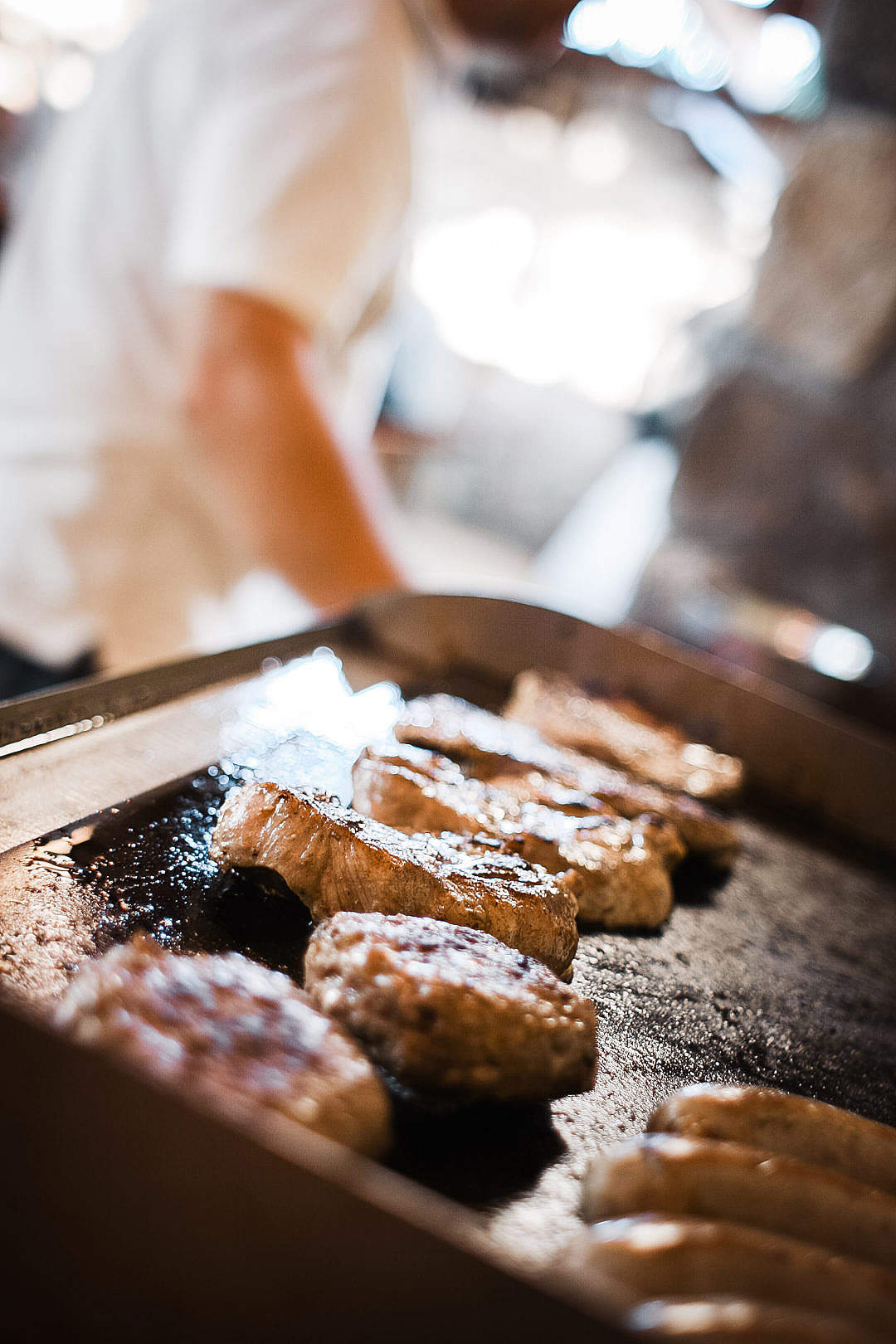 Download Steak on a Grill FREE Stock Photo