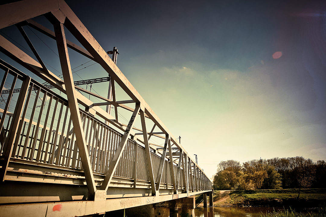 Download Steel Bridge FREE Stock Photo