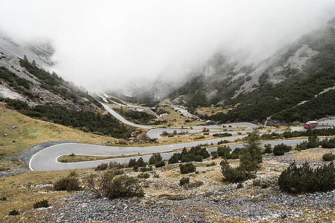 Download Stelvio Pass Hairpin Turns Mountain Road Italy FREE Stock Photo