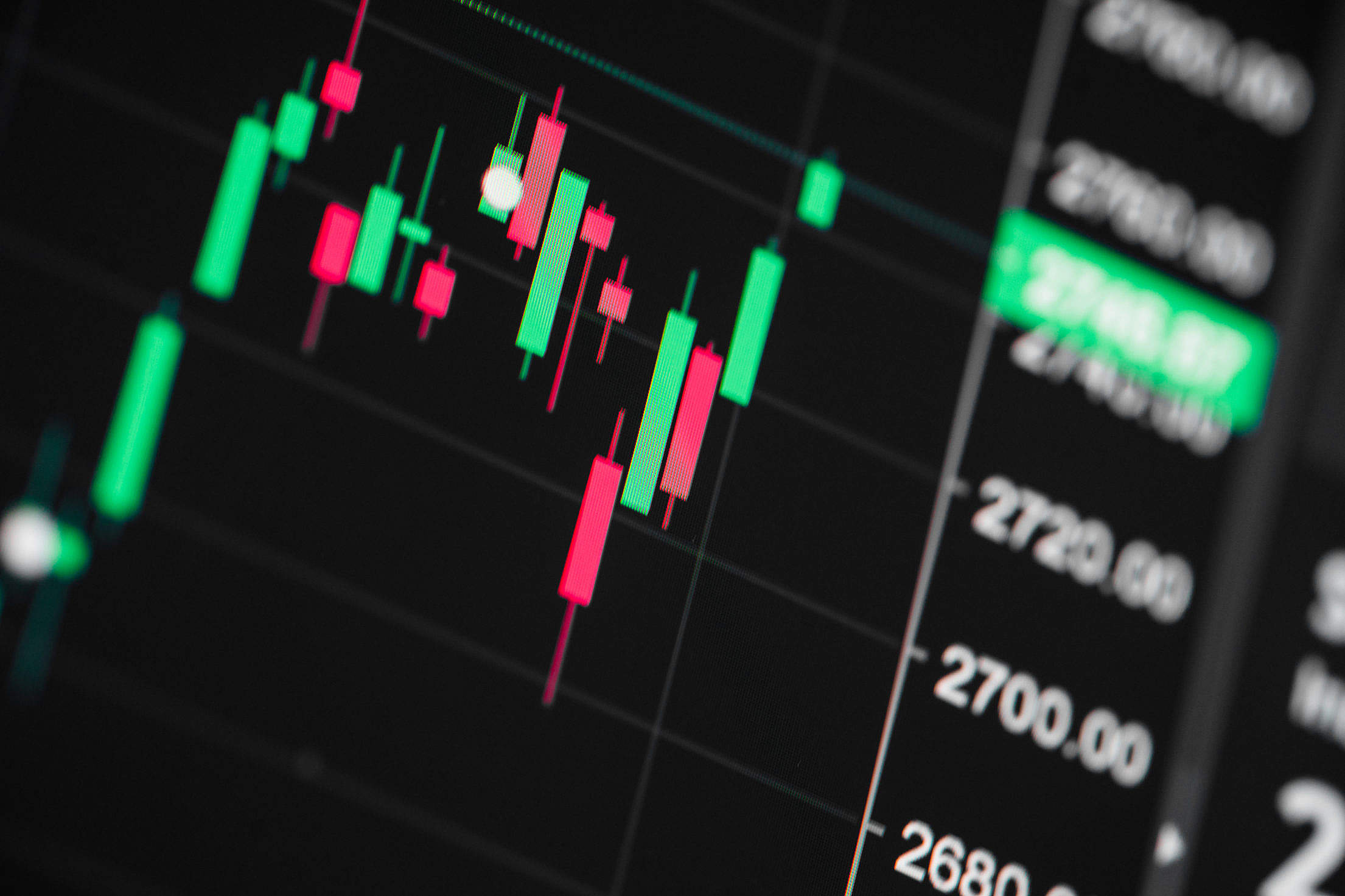 Stock Exchange Live Chart Free Stock Photo