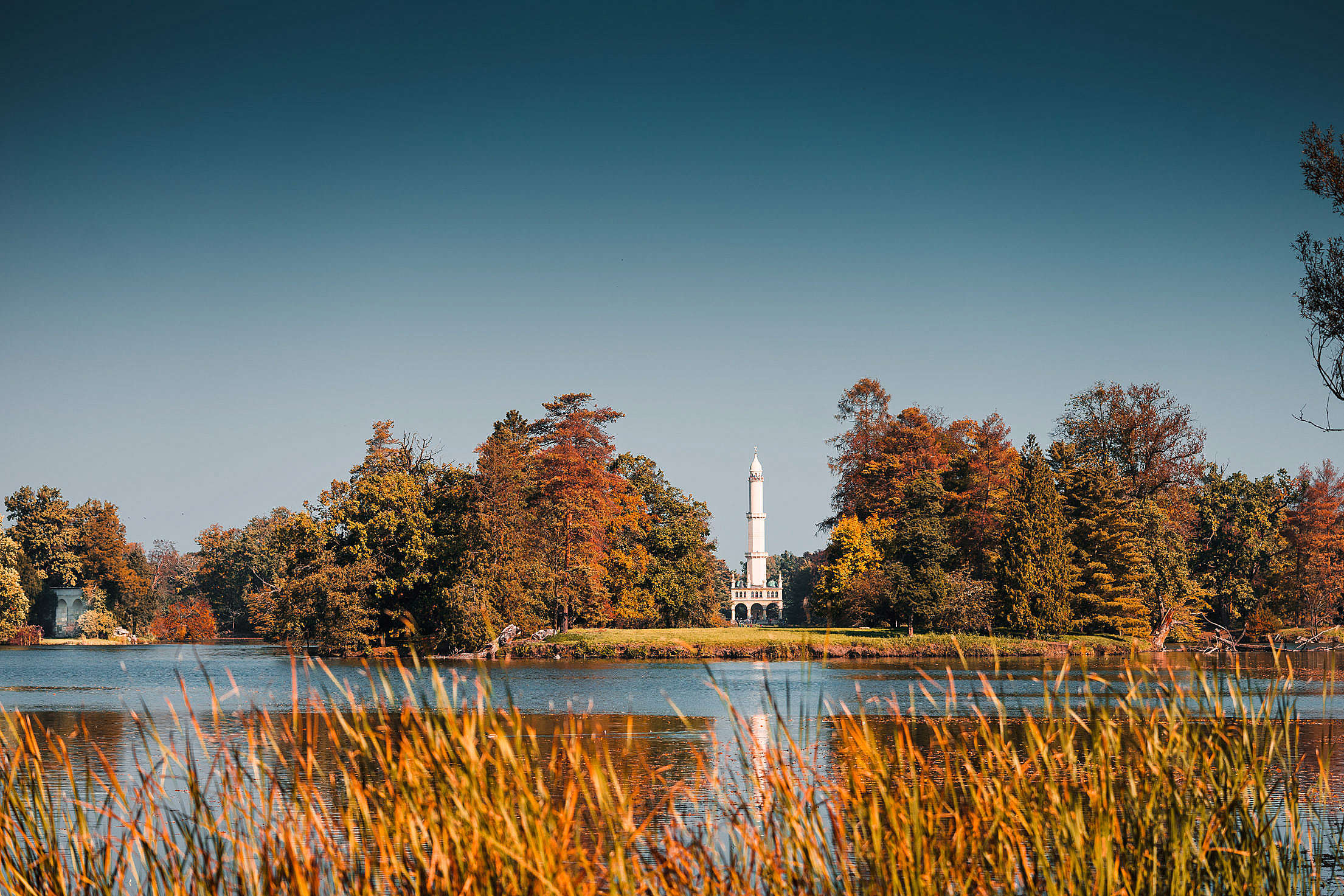 Stone Lookout Tower Minaret, Lednice Free Stock Photo