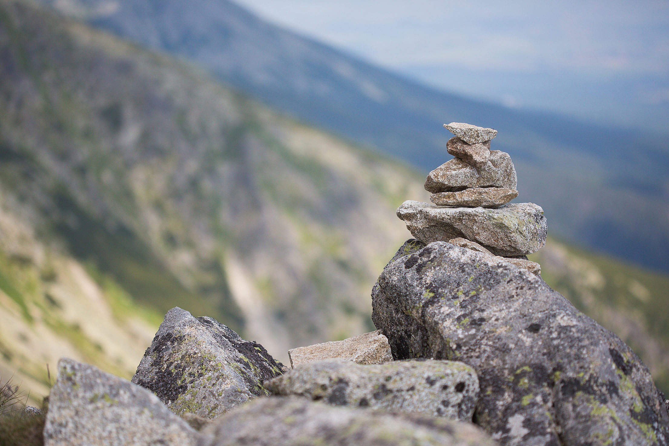 Stones at Each Other Free Stock Photo