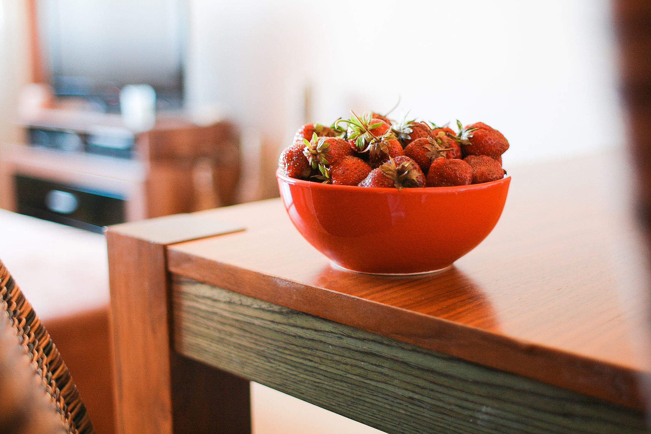 Strawberries on the Table Free Stock Photo