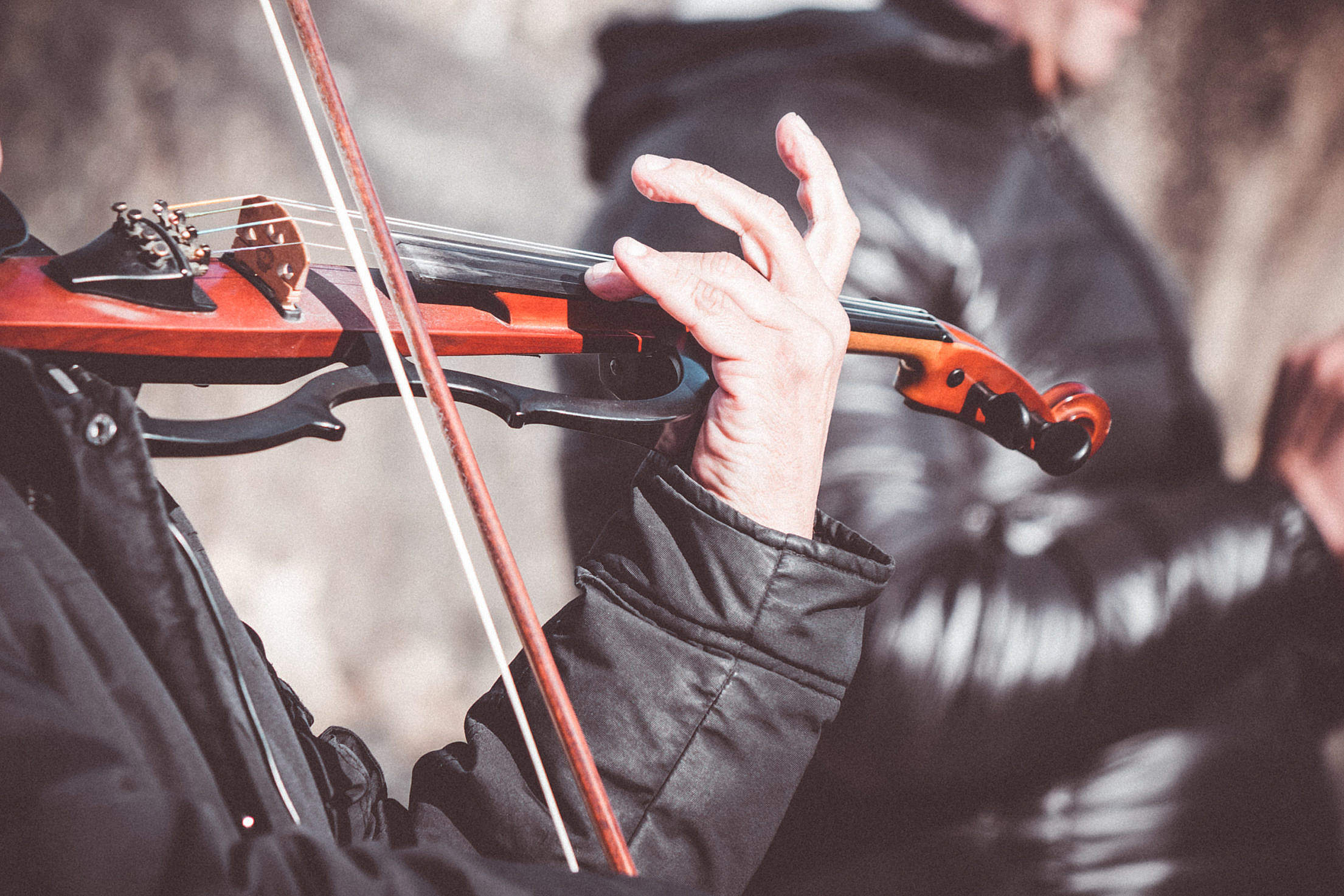 Street Performer Violinist Close Up Free Stock Photo