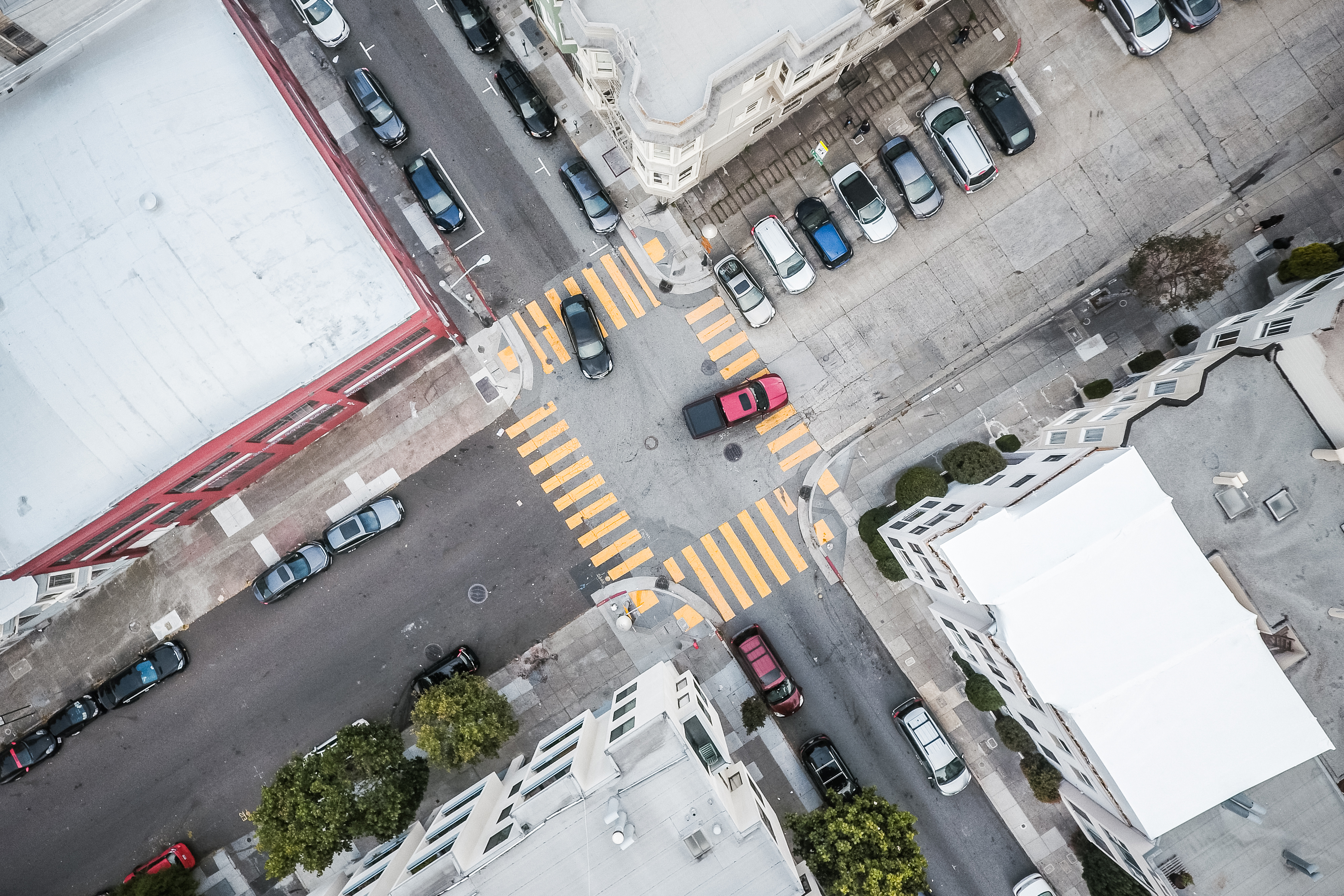 Street Road Intersection From Above Free Stock Photo Picjumbo