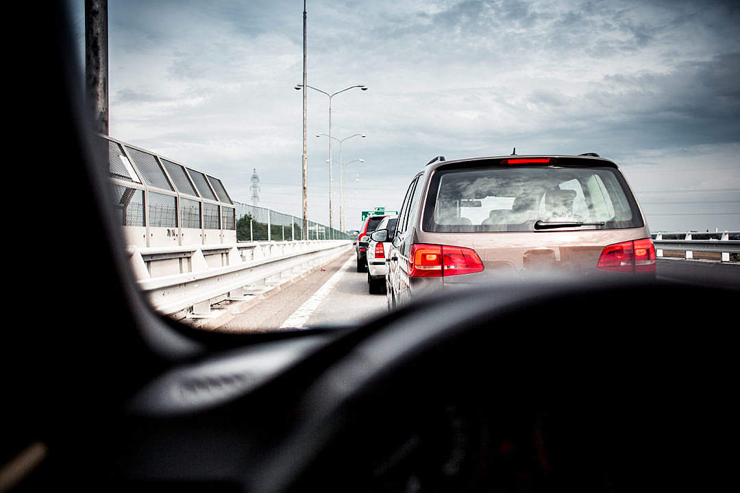 Download Stuck in a Traffic Jam FREE Stock Photo