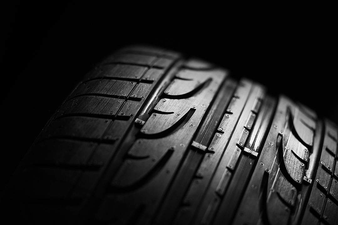 Download Studio Shot of a Car Tire FREE Stock Photo