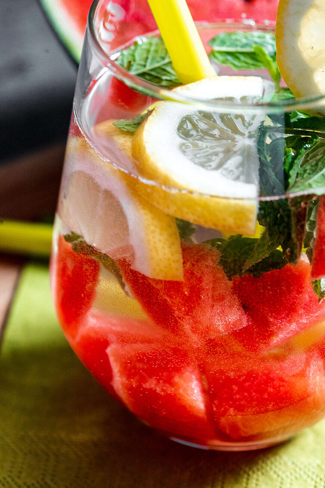 Download Summer Melon Lemonade FREE Stock Photo