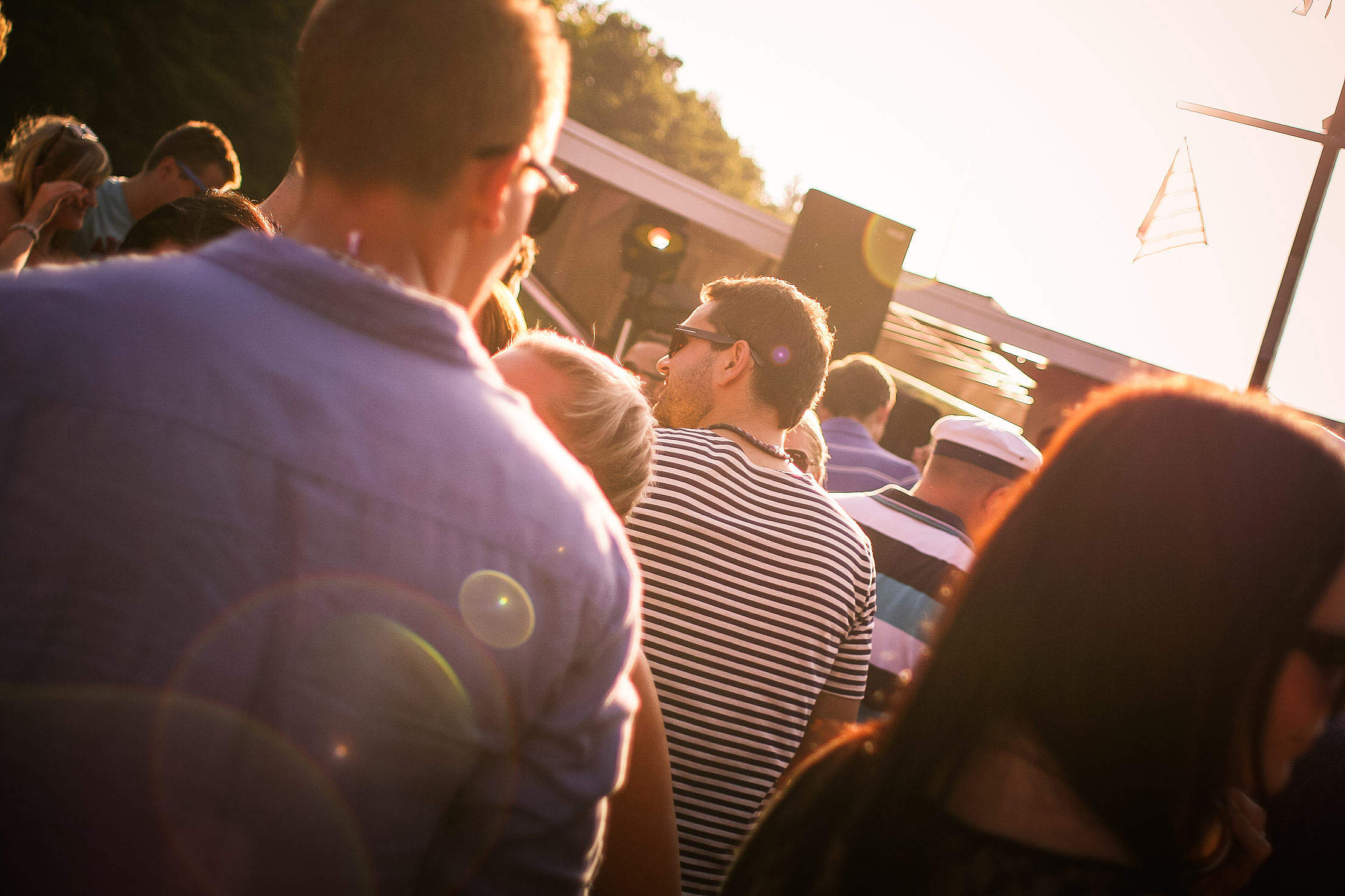 Sunset Open Air Party Free Stock Photo