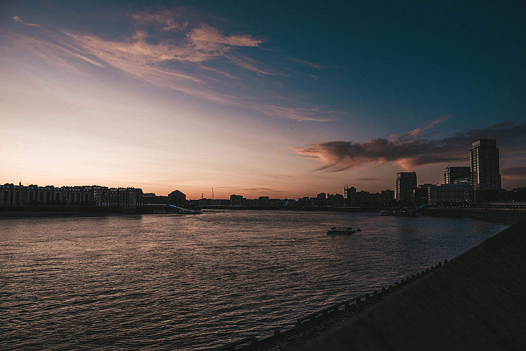 Download Sunset Over the River FREE Stock Photo