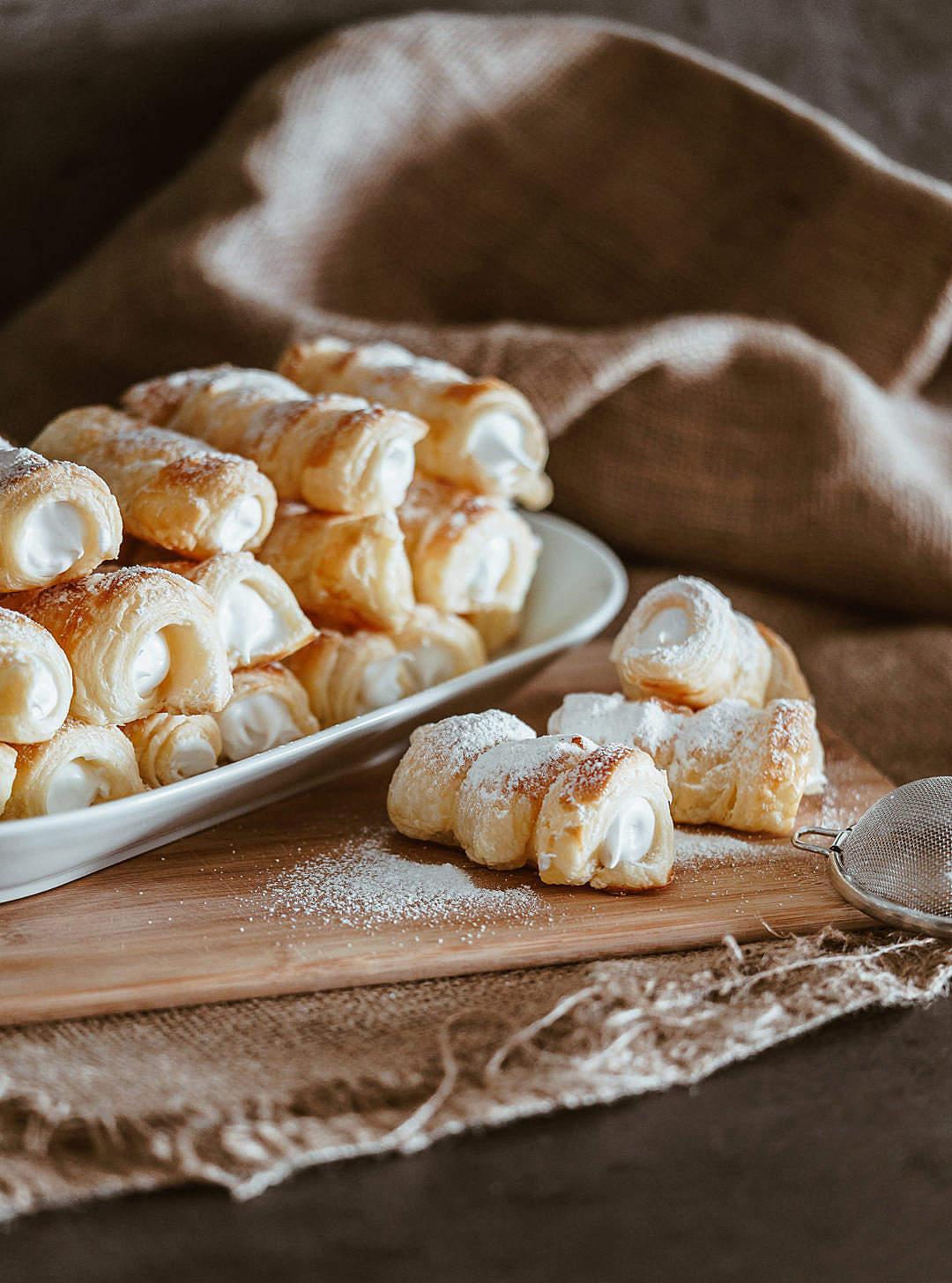 Download Sweet Austrian Pastry Schaumrollen FREE Stock Photo