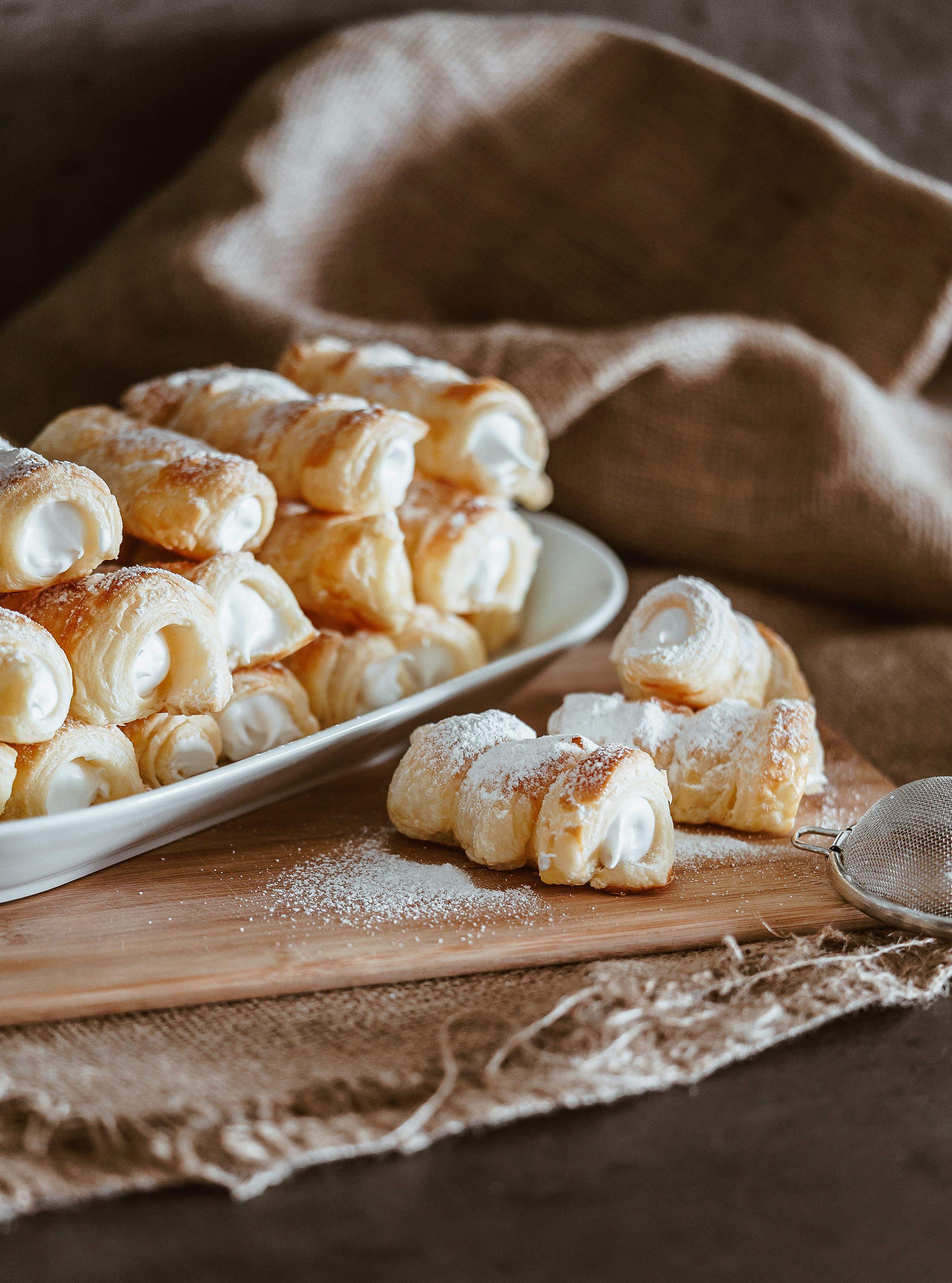 Sweet Austrian Pastry Schaumrollen Free Stock Photo