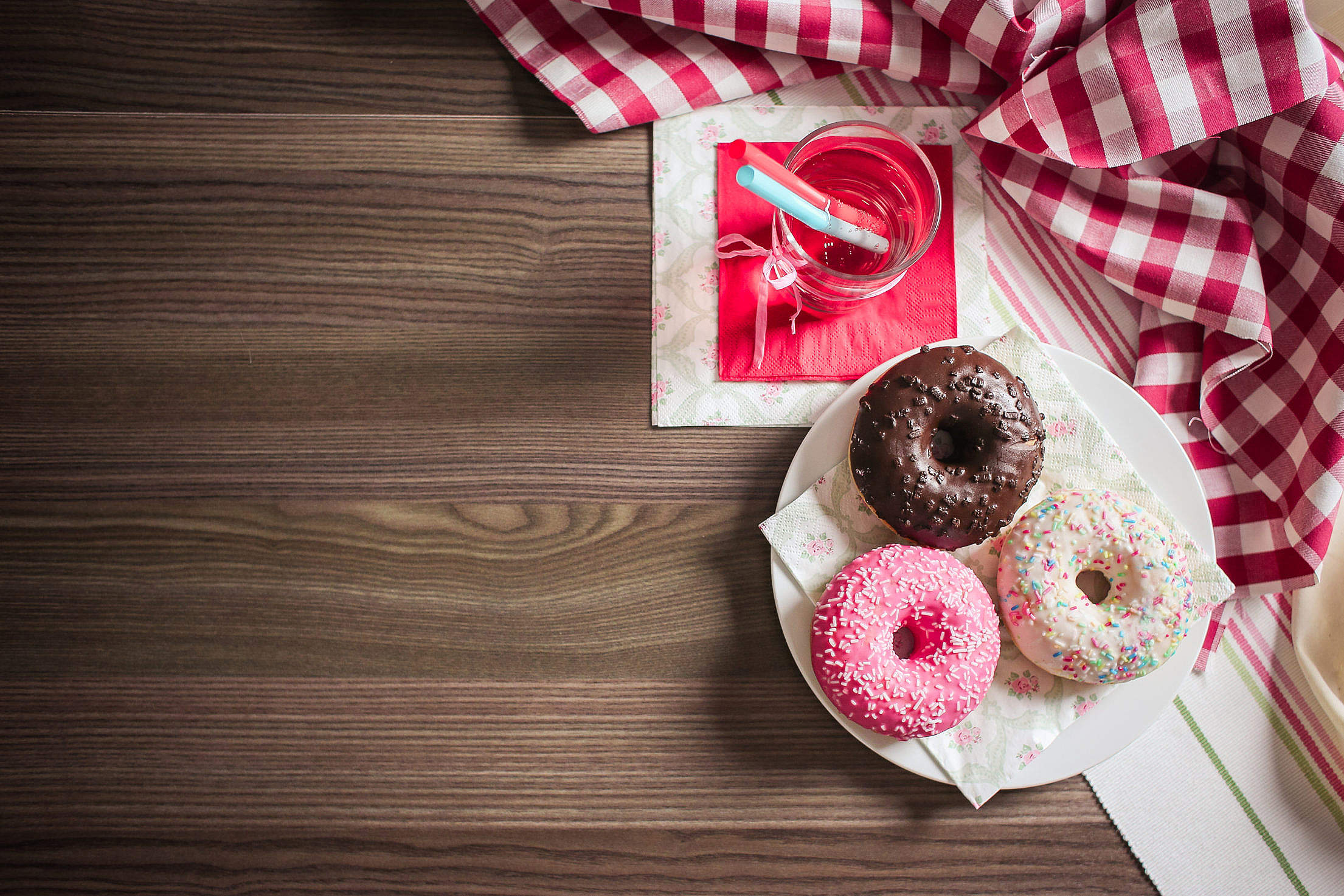 Sweet & Colorful Donuts Free Stock Photo