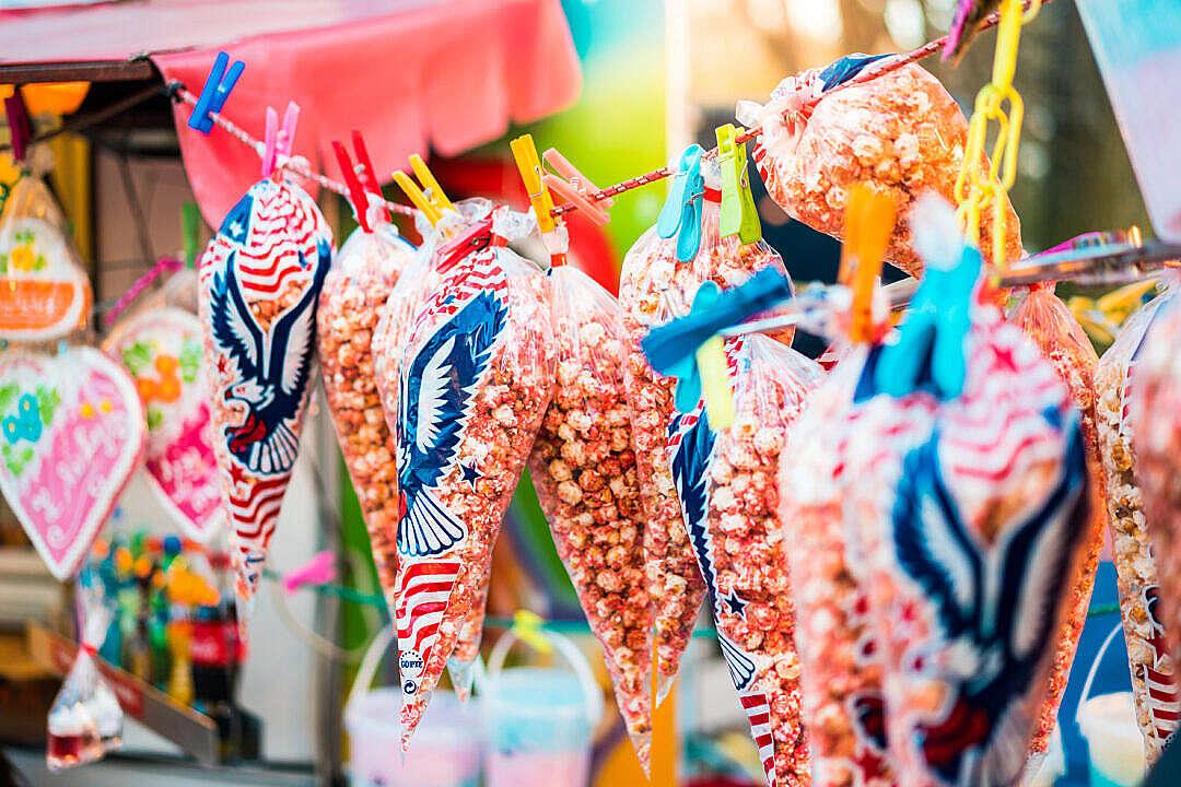 Download Sweet Popcorn on Fun Fair FREE Stock Photo