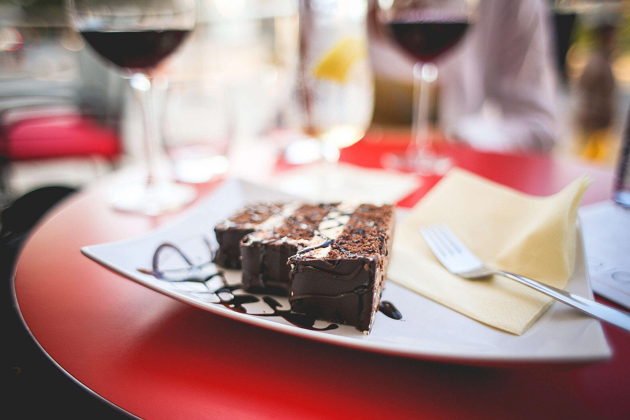 Sweet Yummy Chocolate Cake Free Stock Photo