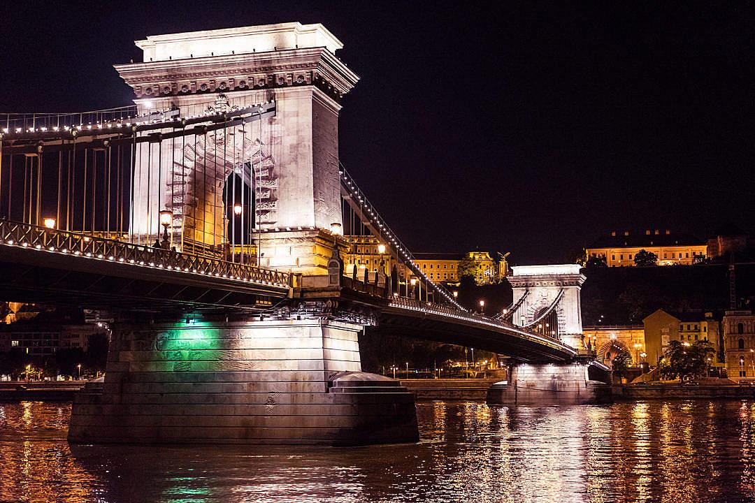 Download Széchenyi Chain Bridge, Hungary FREE Stock Photo
