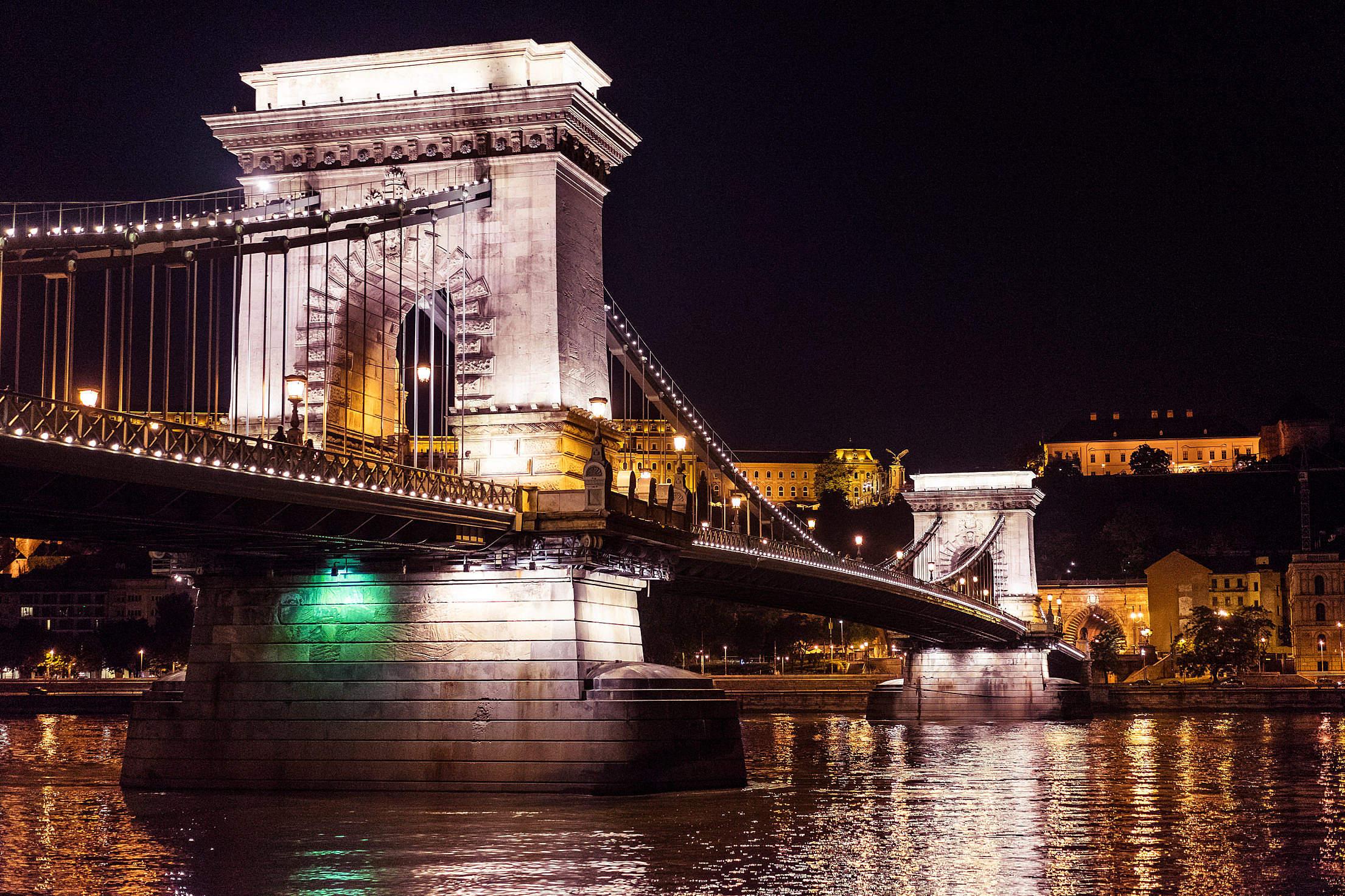 Széchenyi Chain Bridge, Hungary Free Stock Photo