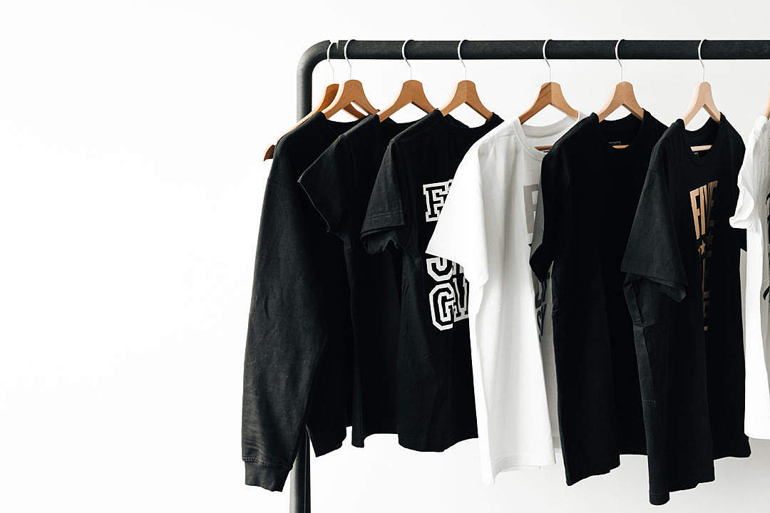 Download T-Shirts on Rack with Room for Text #2 FREE Stock Photo
