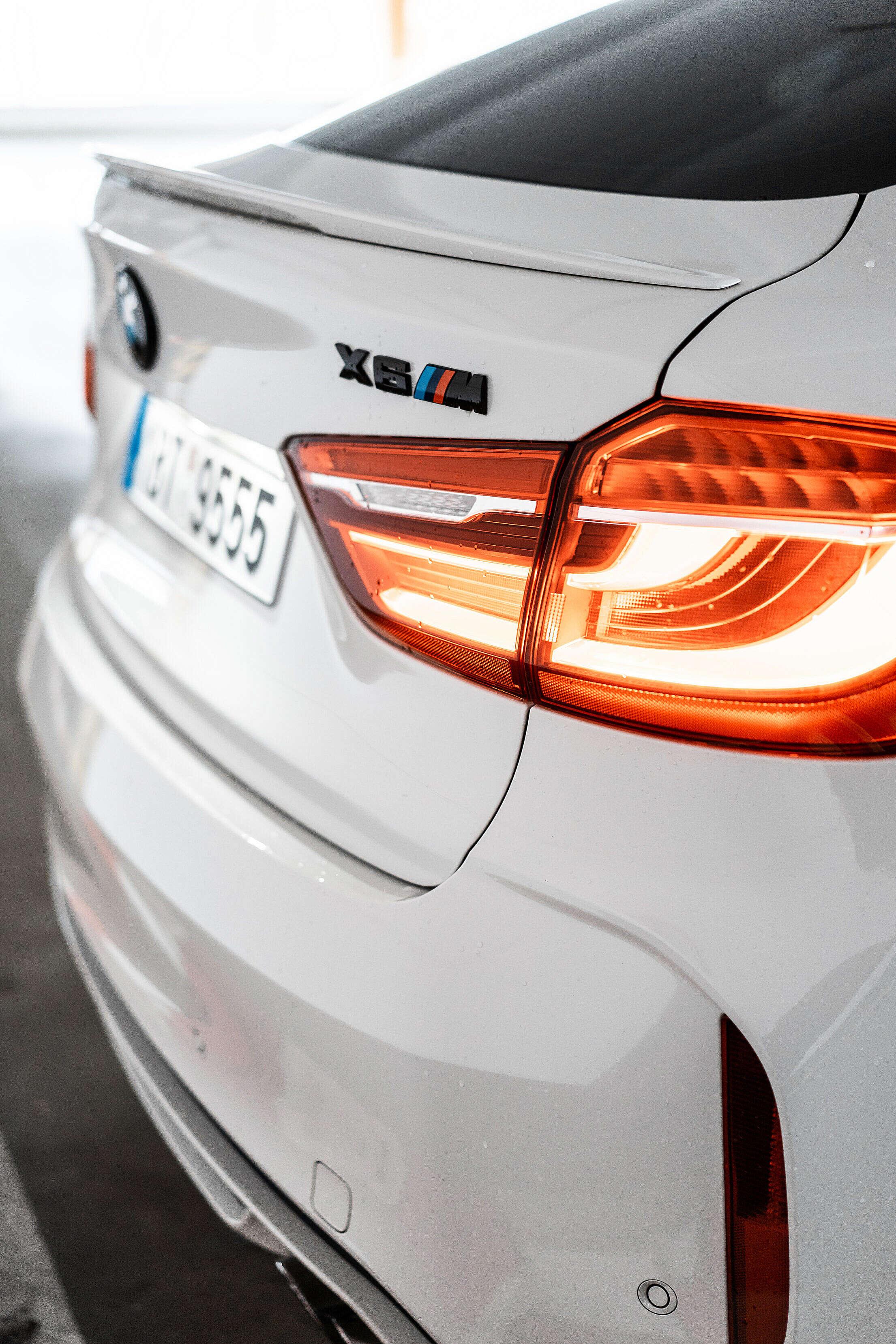 Tailgate and Black BMW X6M Emblem Free Stock Photo