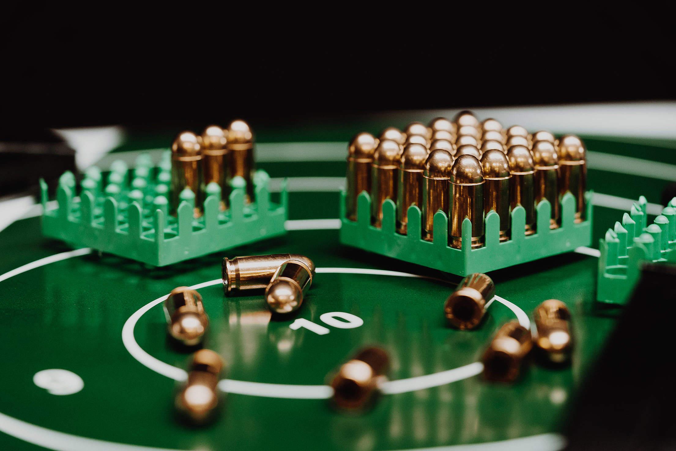 Target Full of Ammunition Free Stock Photo