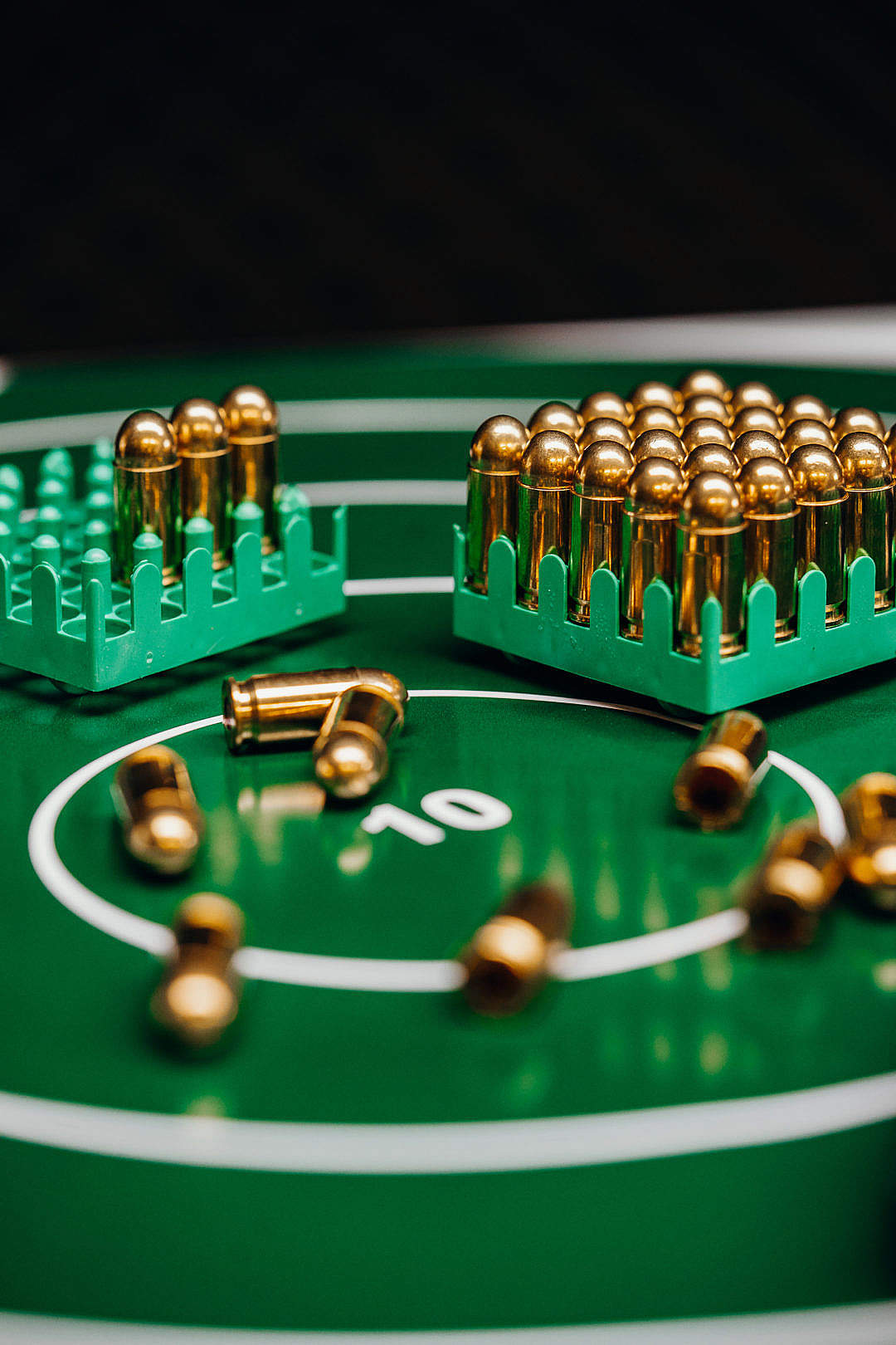 Download Target with Gold Bullets FREE Stock Photo