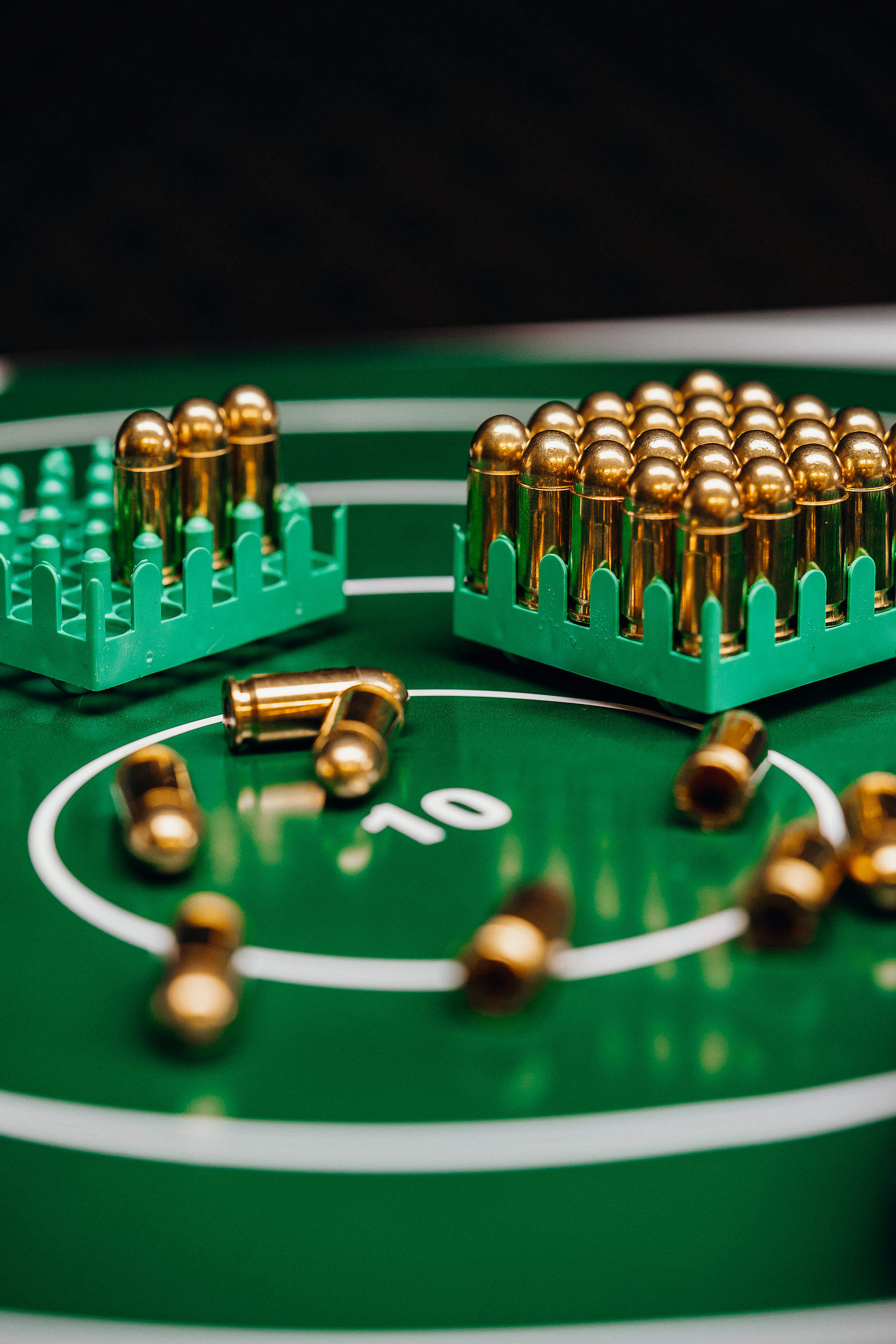 Target with Gold Bullets Free Stock Photo