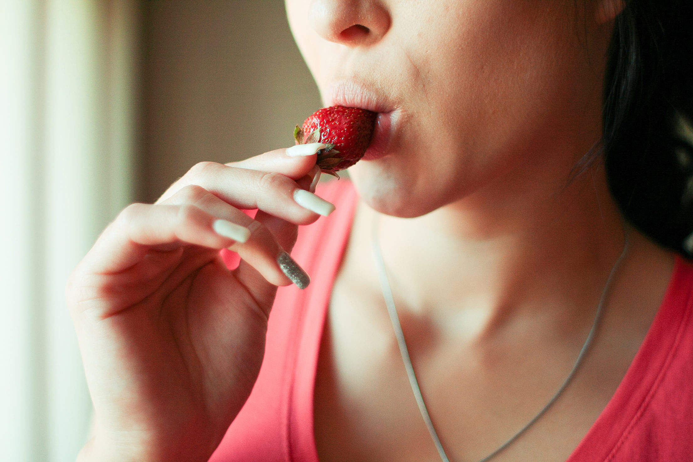 Taste That Strawberry! Free Stock Photo