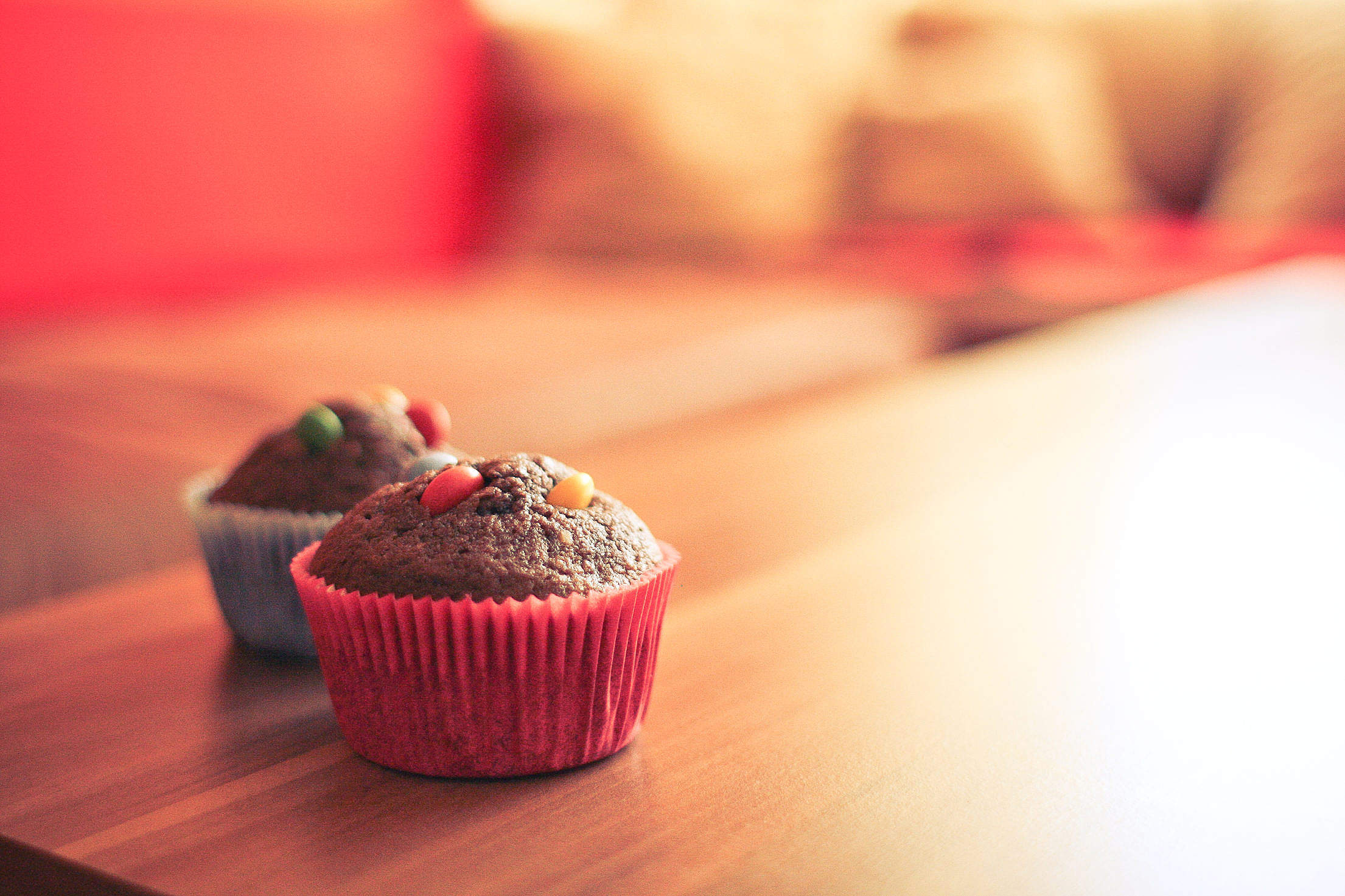 Tasty & Colorful Muffins Free Stock Photo