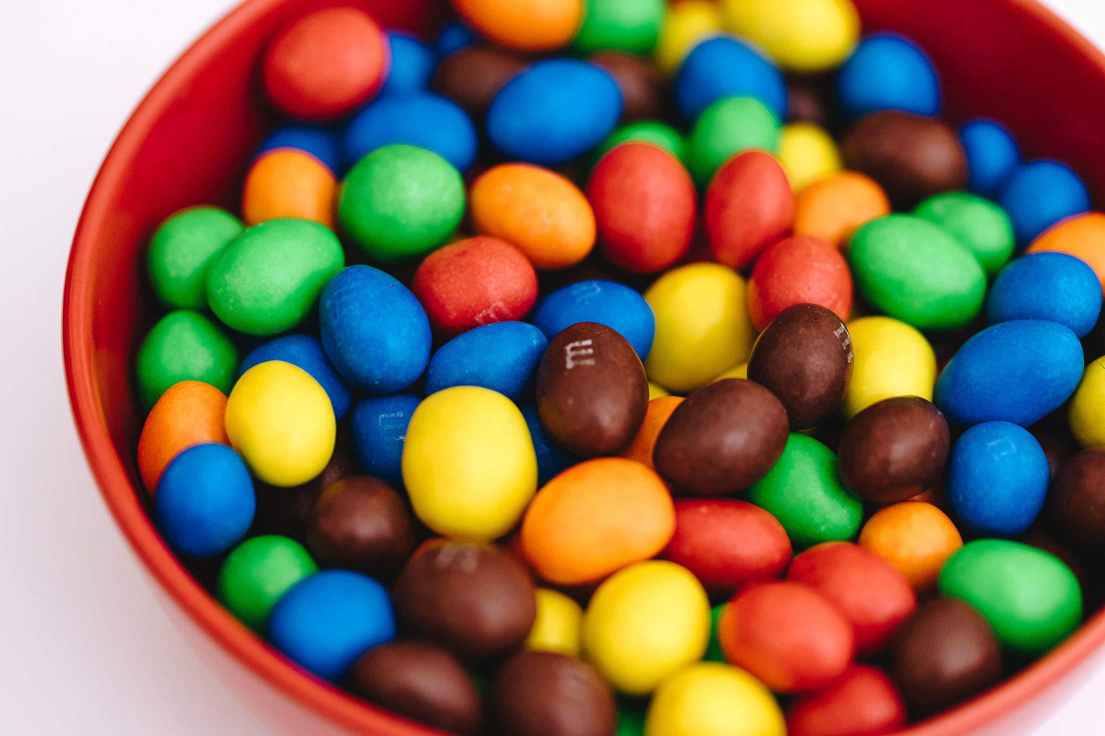 Tasty M&M's Peanut Chocolates Free Stock Photo