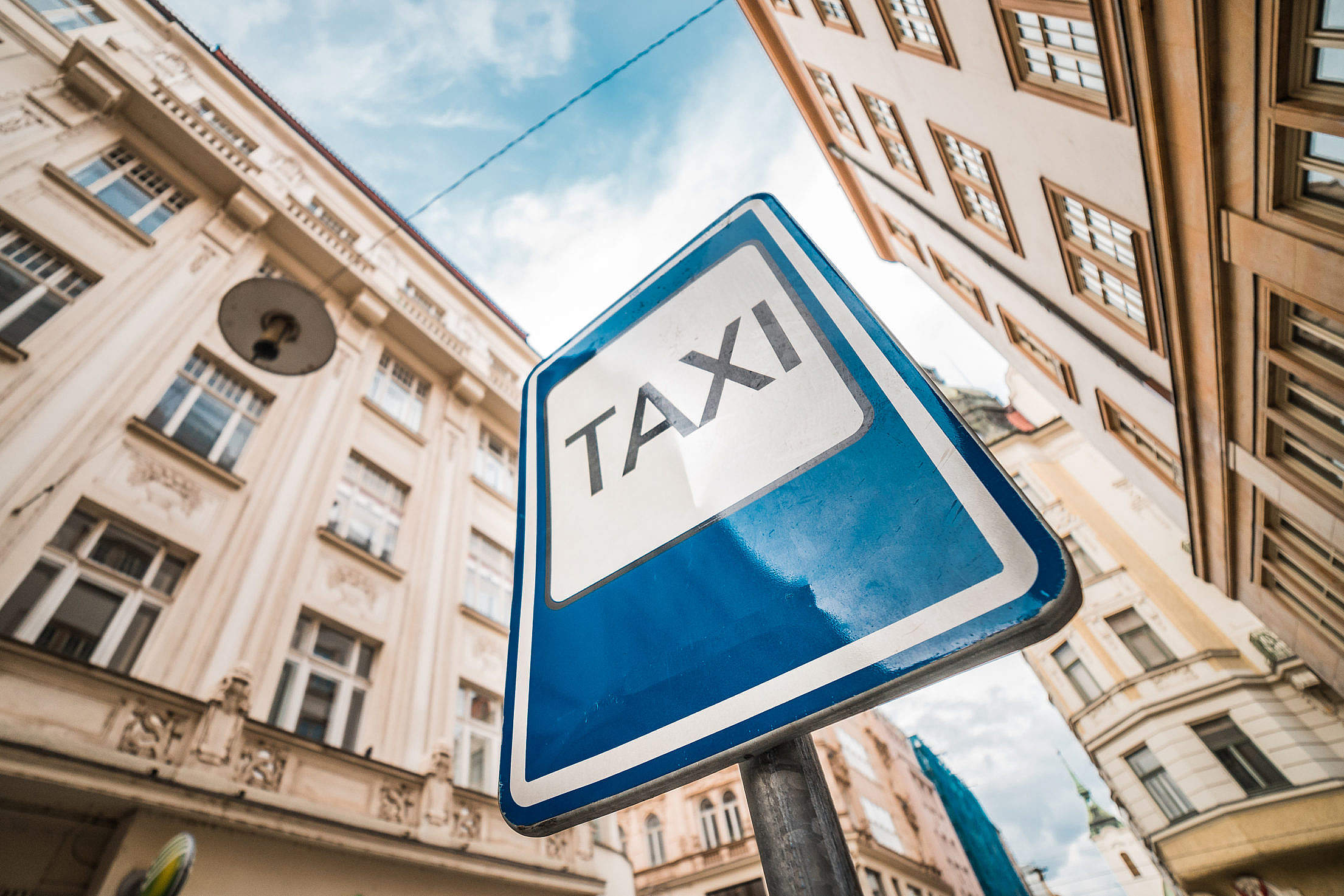 TAXI City Road Sign Free Stock Photo