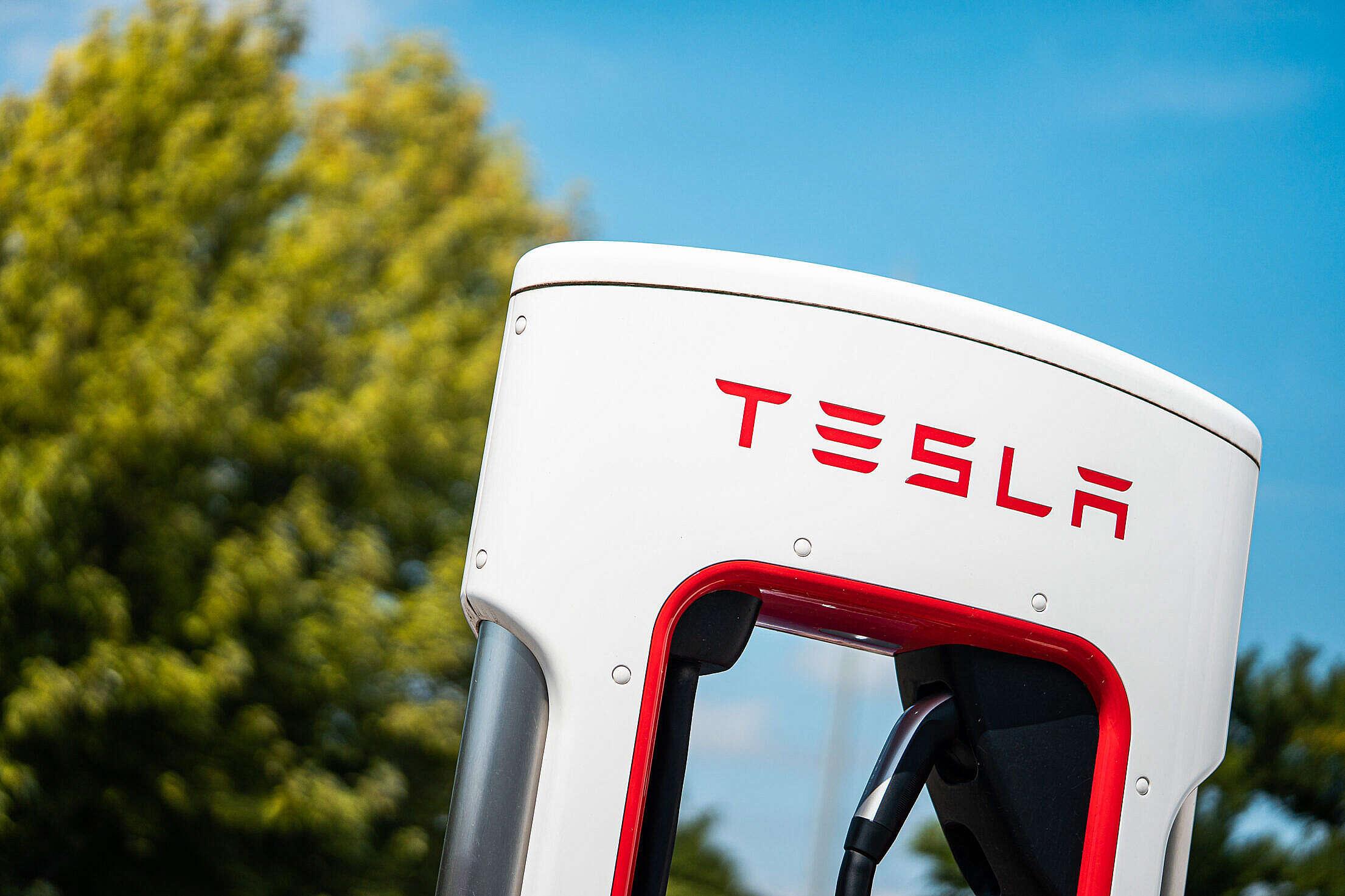 Tesla Charging Station Free Stock Photo