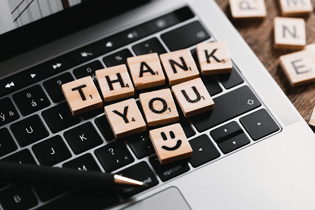 Download Thank You Message FREE Stock Photo