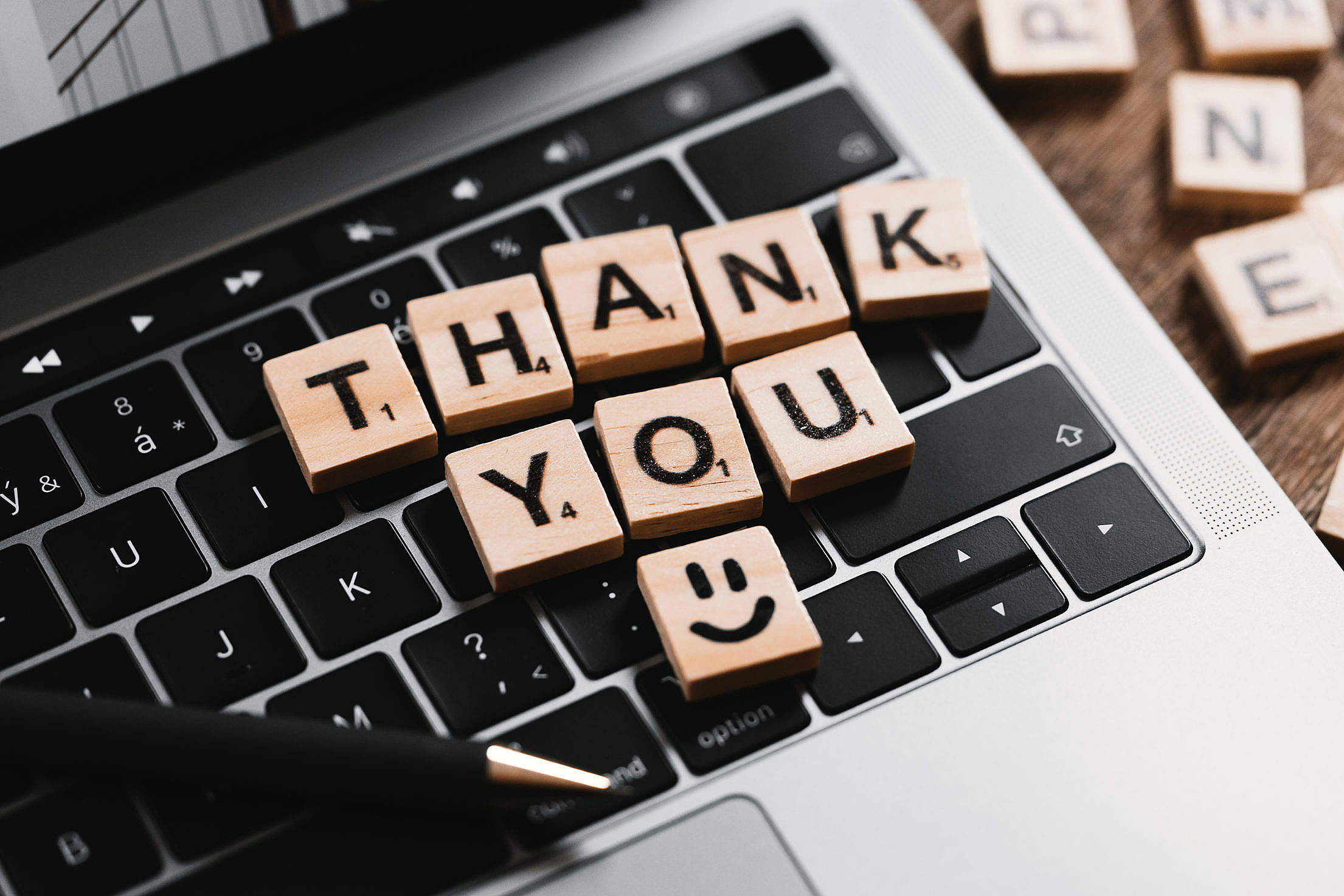 Thank You Message Free Stock Photo