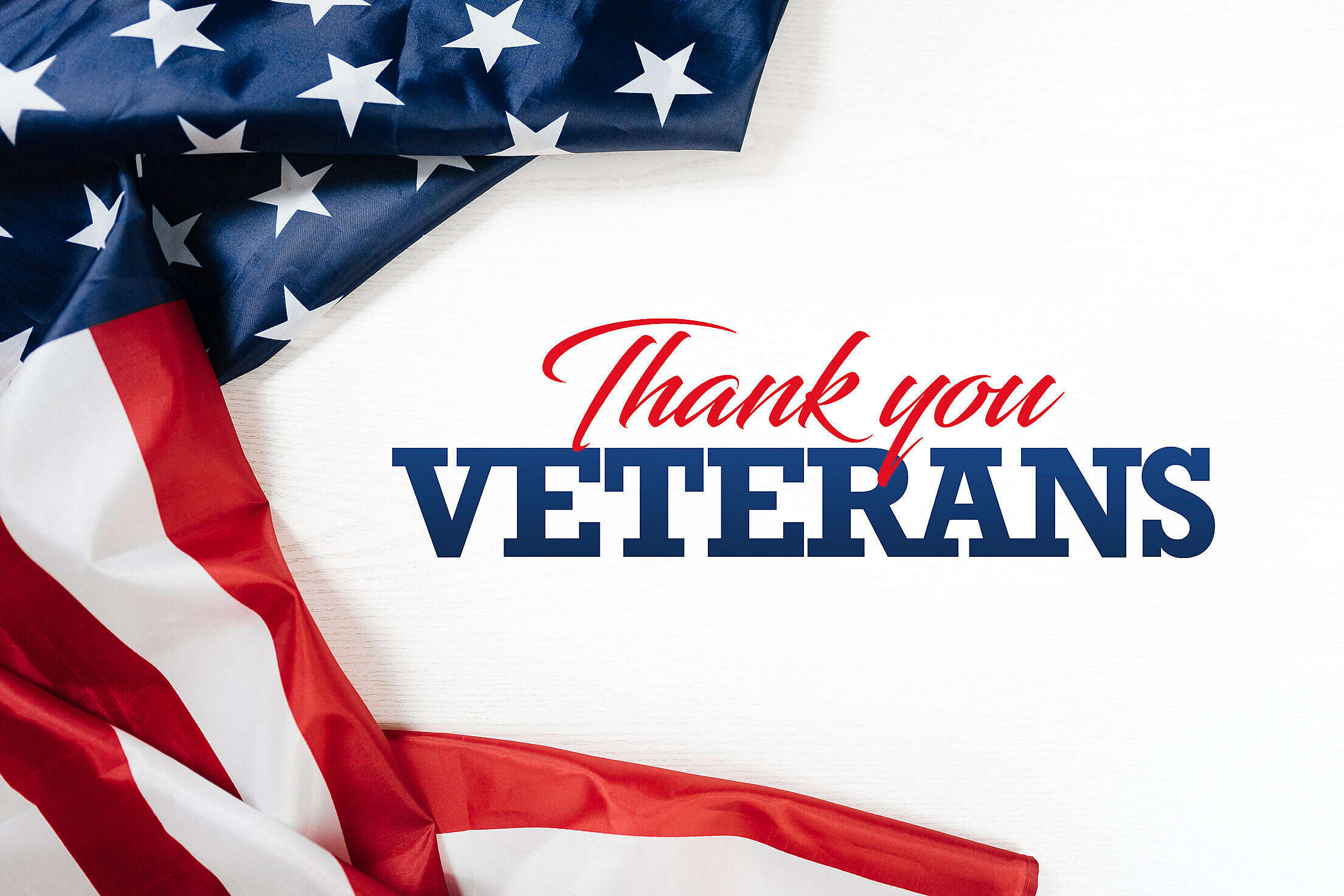 Thank You Veterans Letterings Free Stock Photo