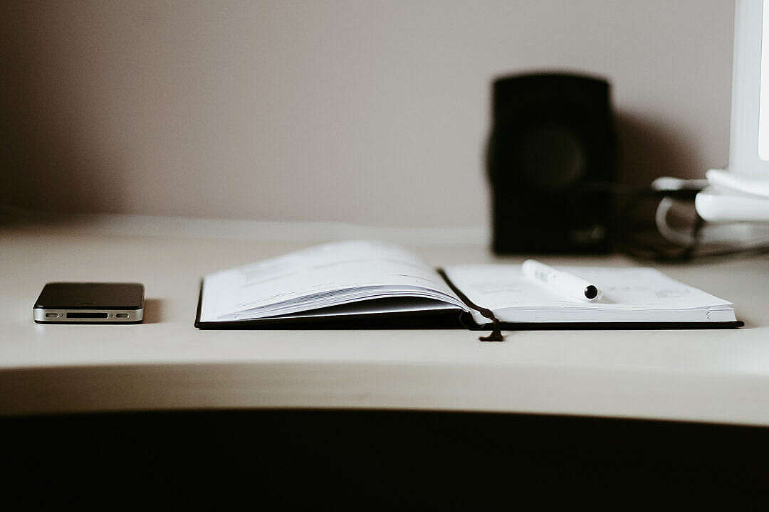 Download The Diary with Black iPhone FREE Stock Photo