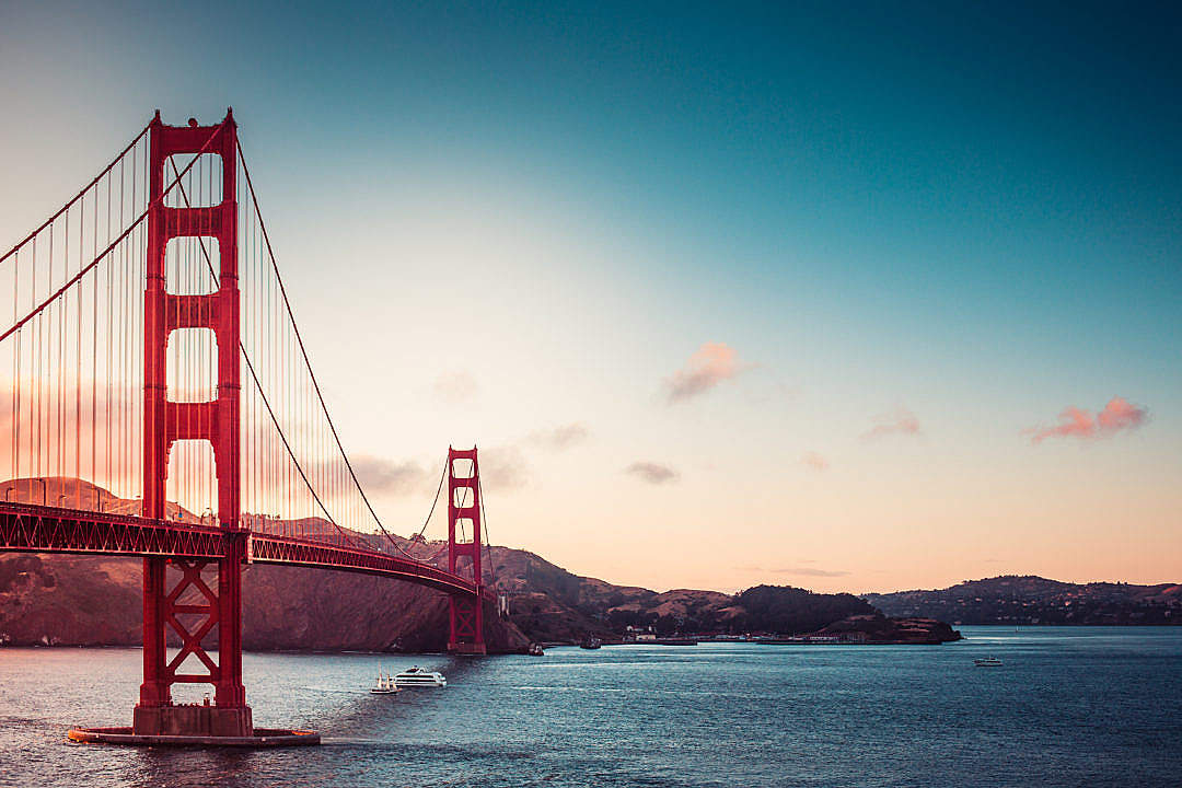 Download The Golden Gate Bridge Sunset FREE Stock Photo