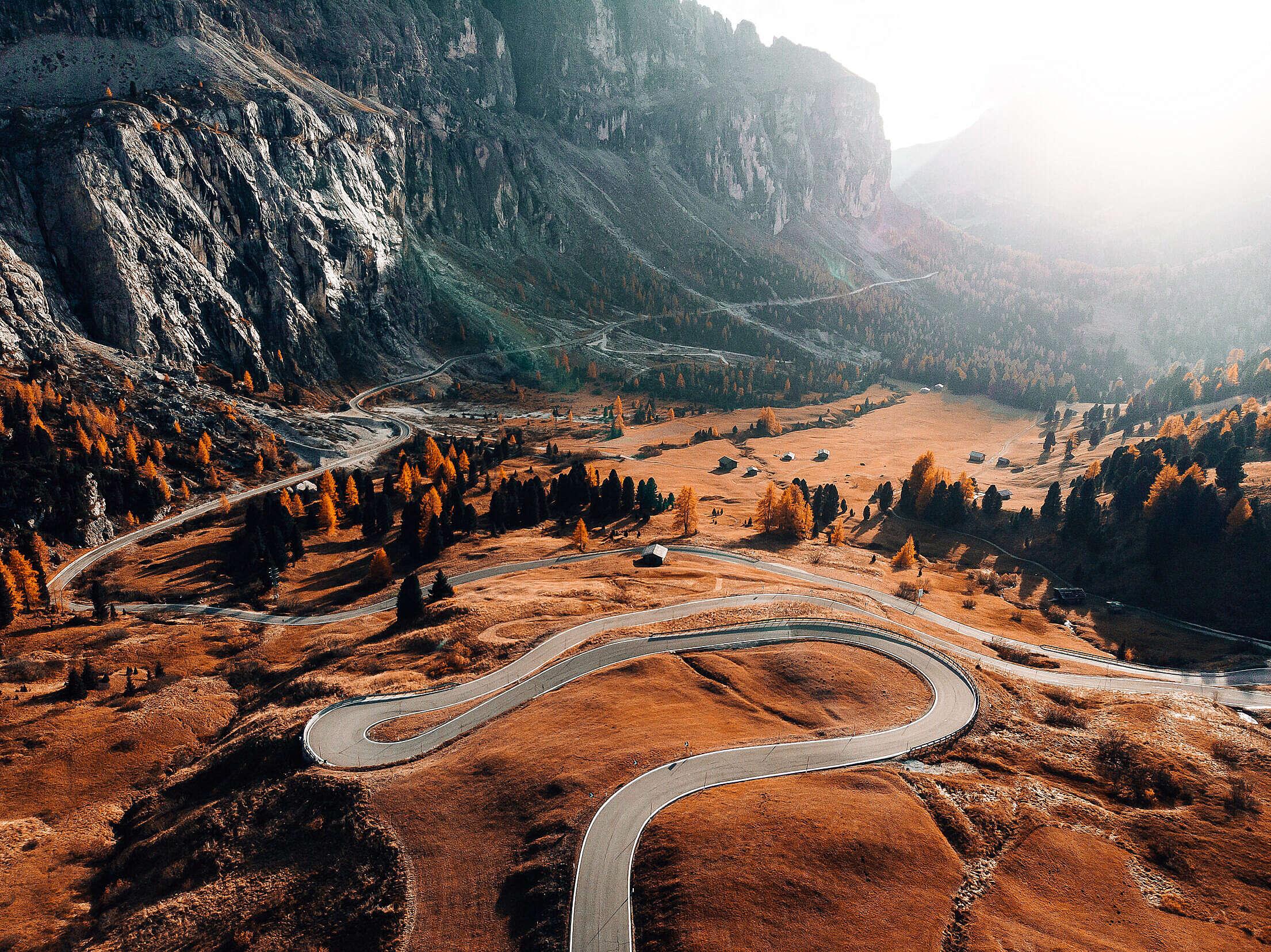 The Great Dolomites Road, Italy Free Stock Photo