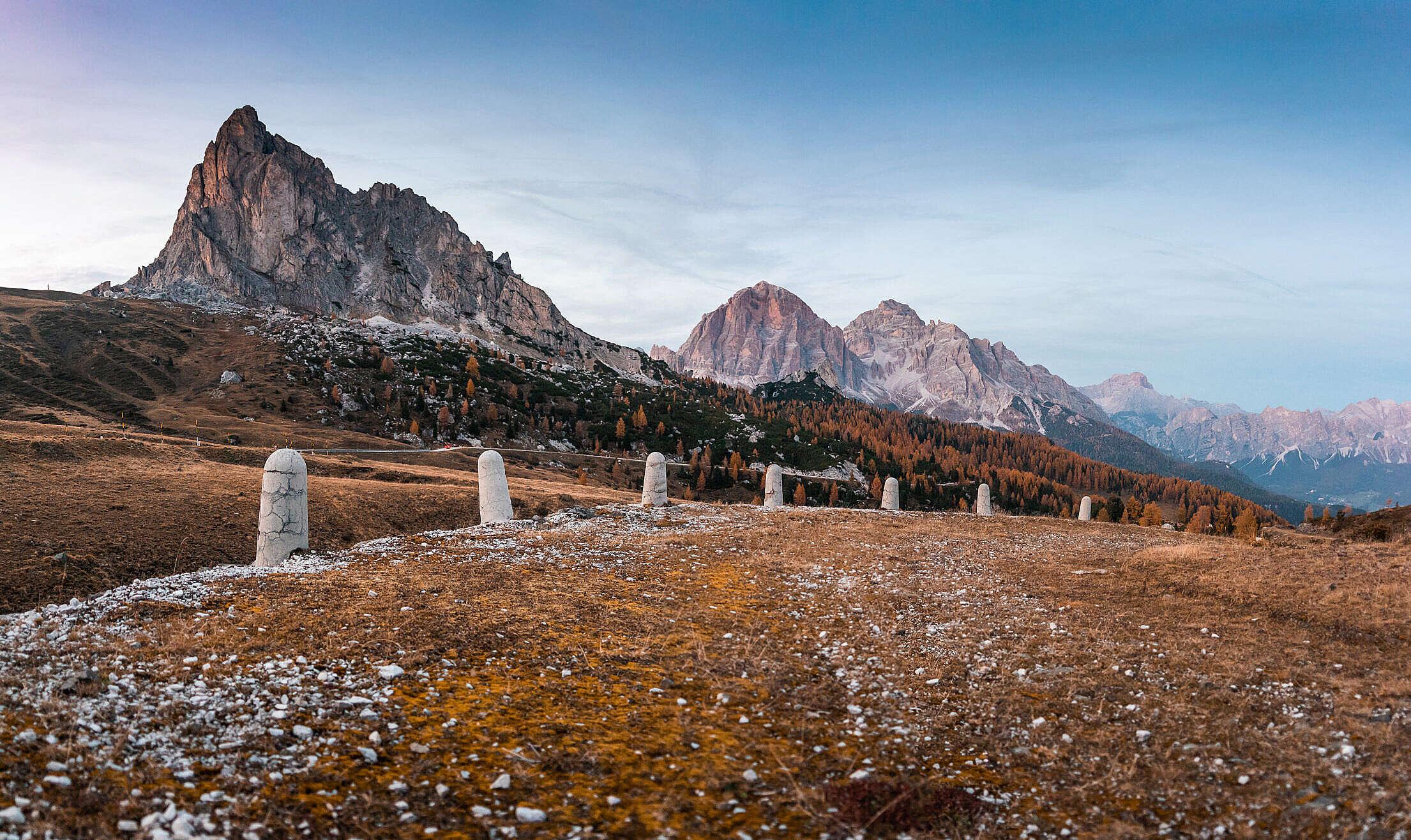 The Original Giau Pass in Italian Dolomites Free Stock Photo