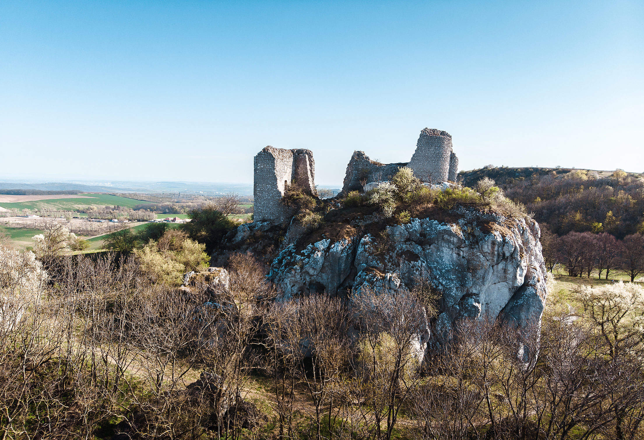 The Ruins of The Orphan's Castle Free Stock Photo