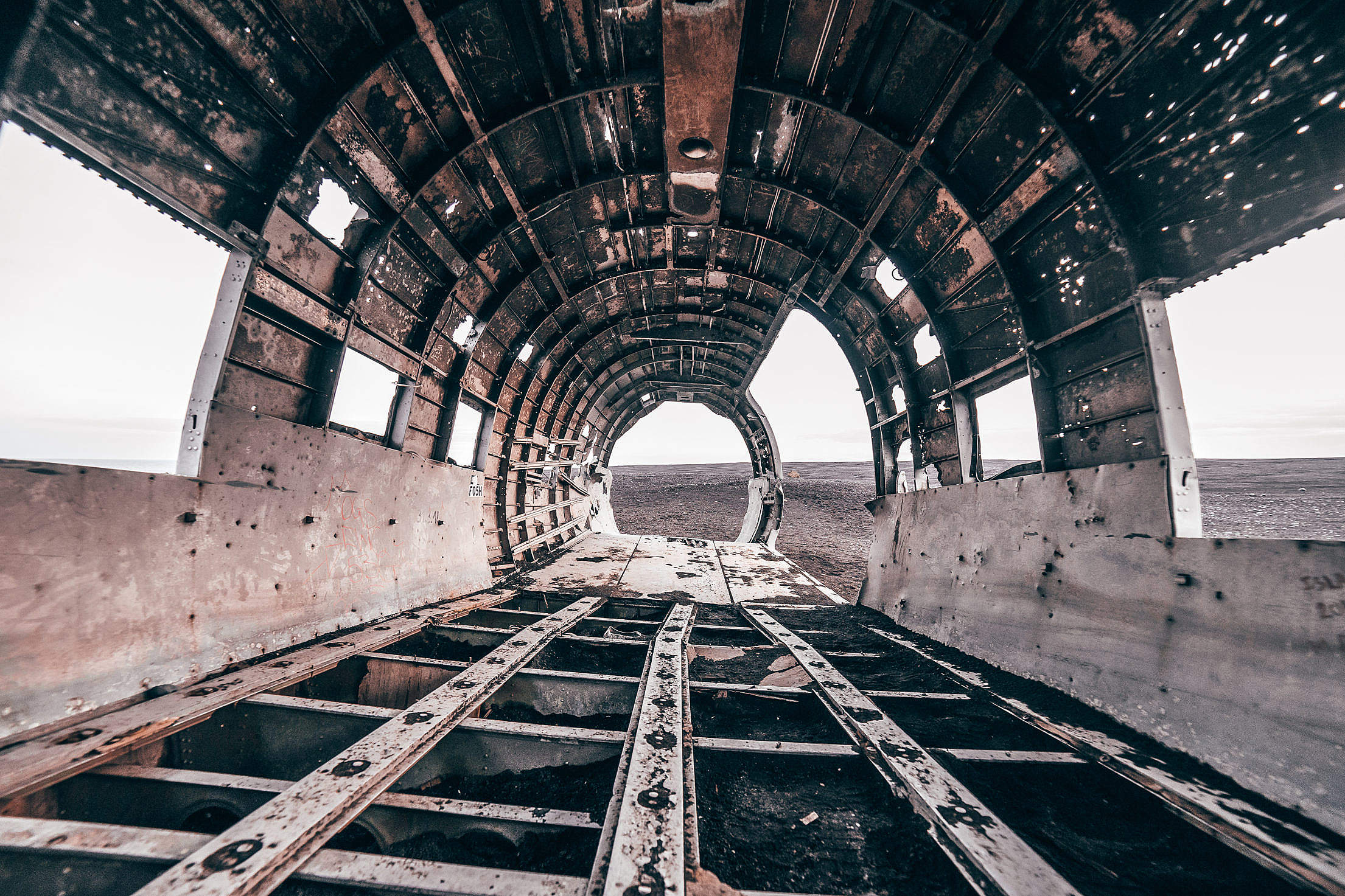 The Wreckage of a Famous Plane in Iceland Free Stock Photo