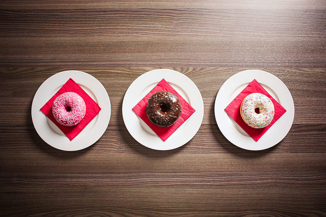 Download Three Sweet Donuts FREE Stock Photo